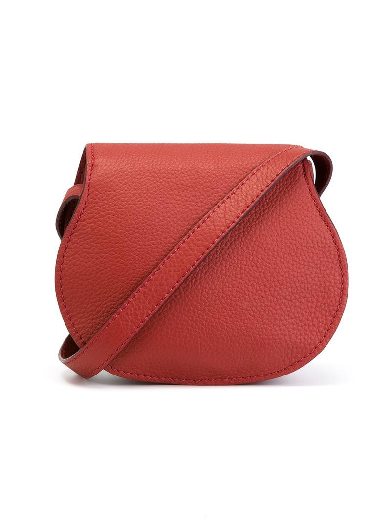 Chlo 233 Cotton Marcie Crossbody Bag In Red Lyst