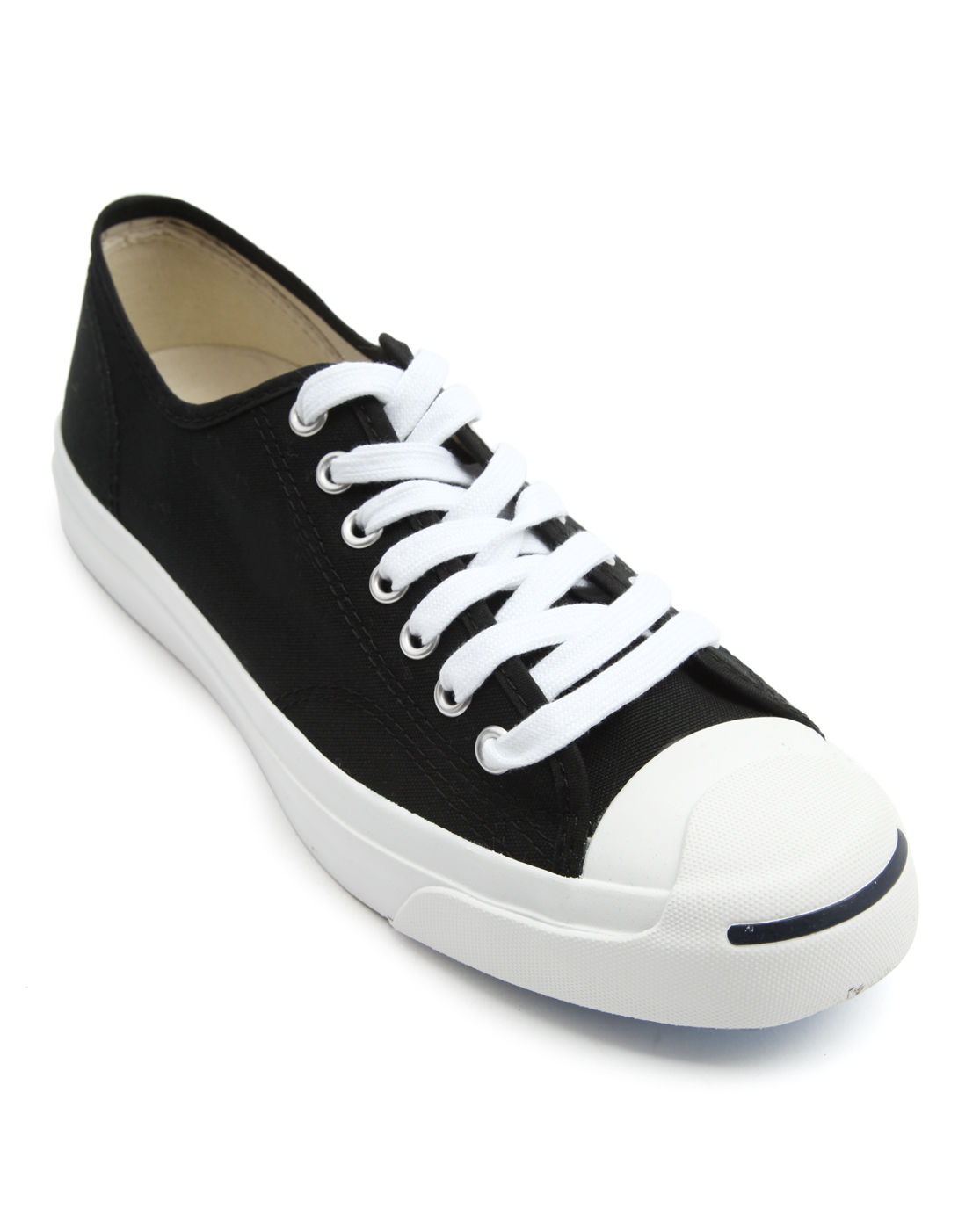 converse purcell black and white ox canvas sneakers