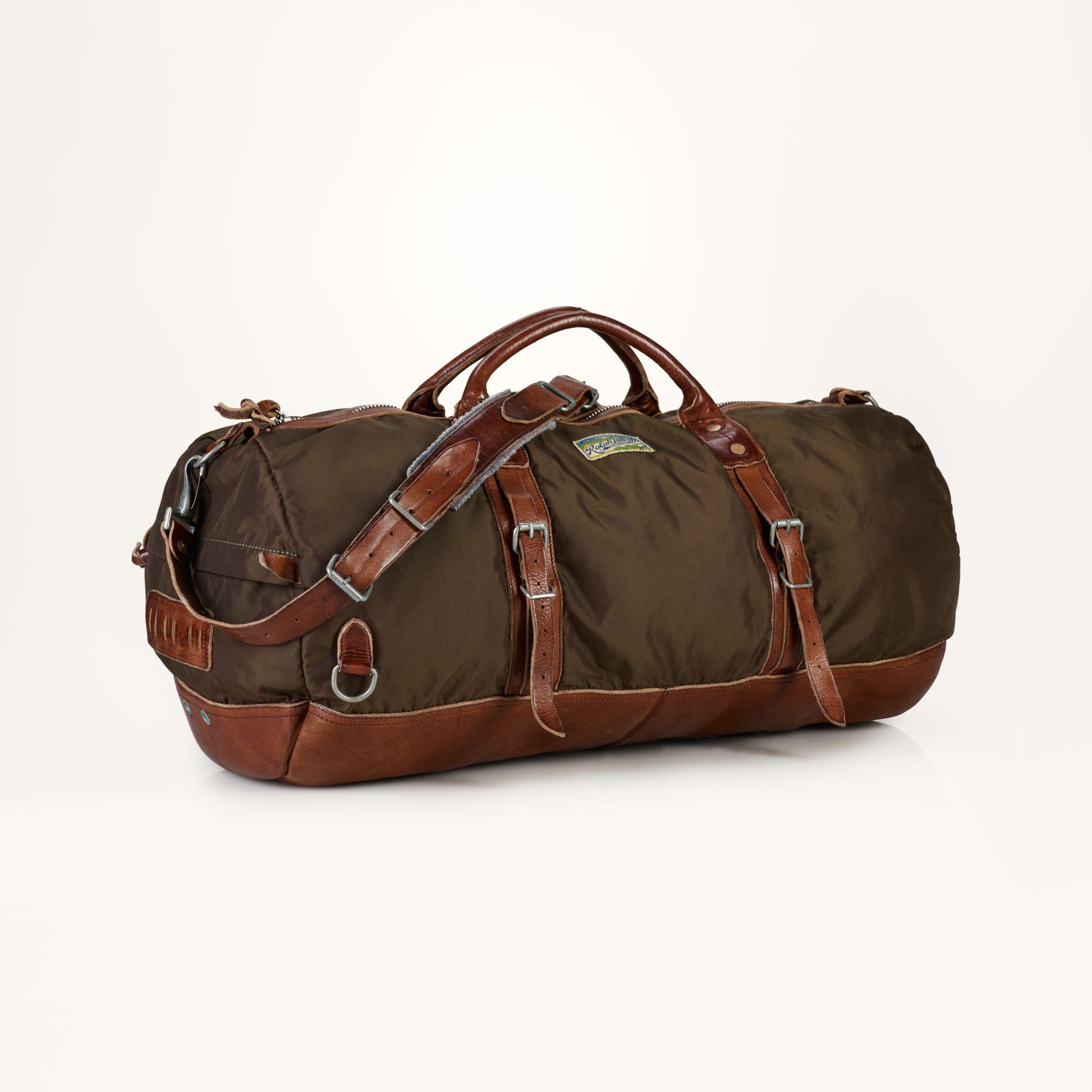 2d5244cf242 Polo Ralph Lauren Nylon Duffel Bag in Green for Men - Lyst