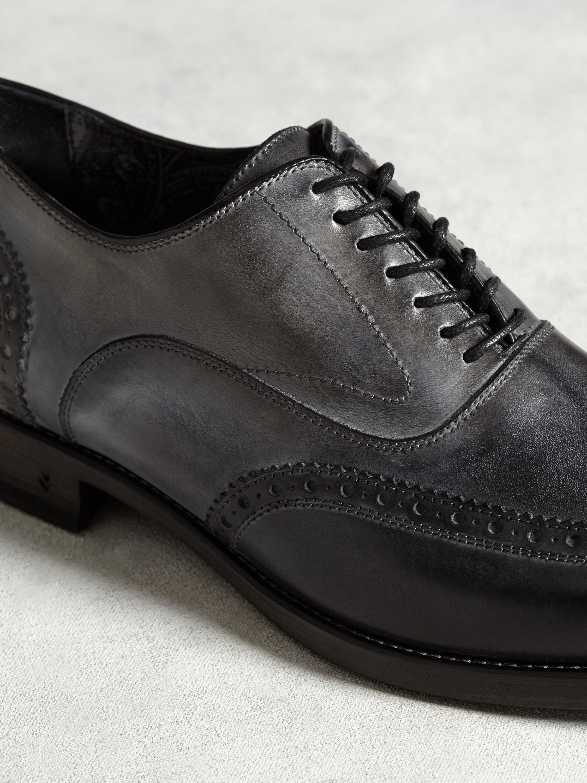 John Varvatos Leather Fleetwood Wingtip