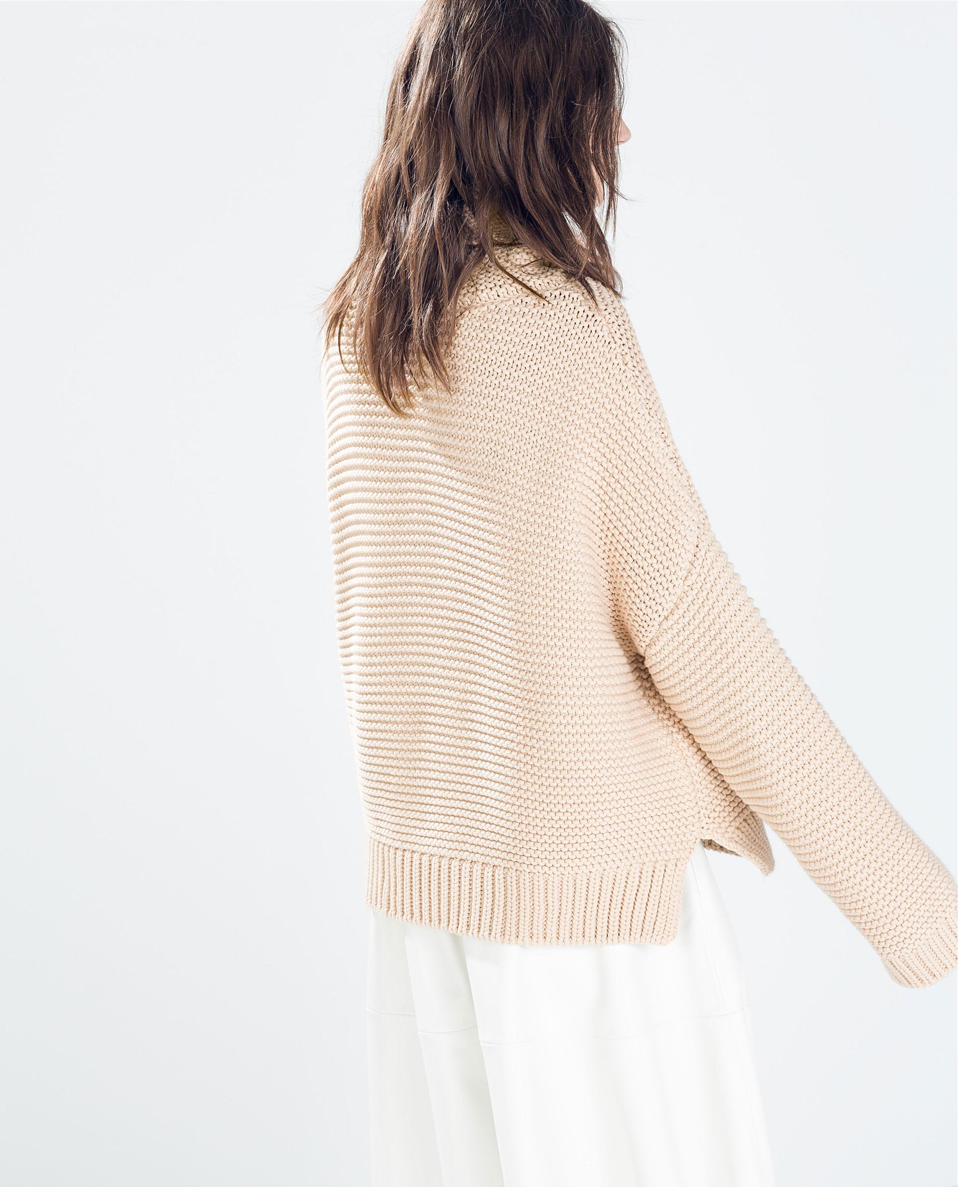 Zara High Neck Sweater Biscuit 74