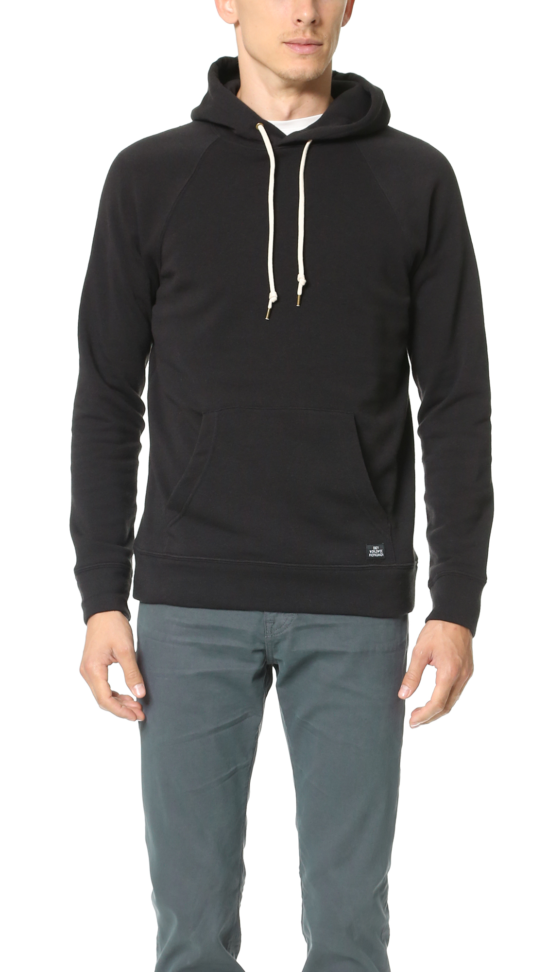 obey lofty creature comforts pullover hoodie in black for men. Black Bedroom Furniture Sets. Home Design Ideas