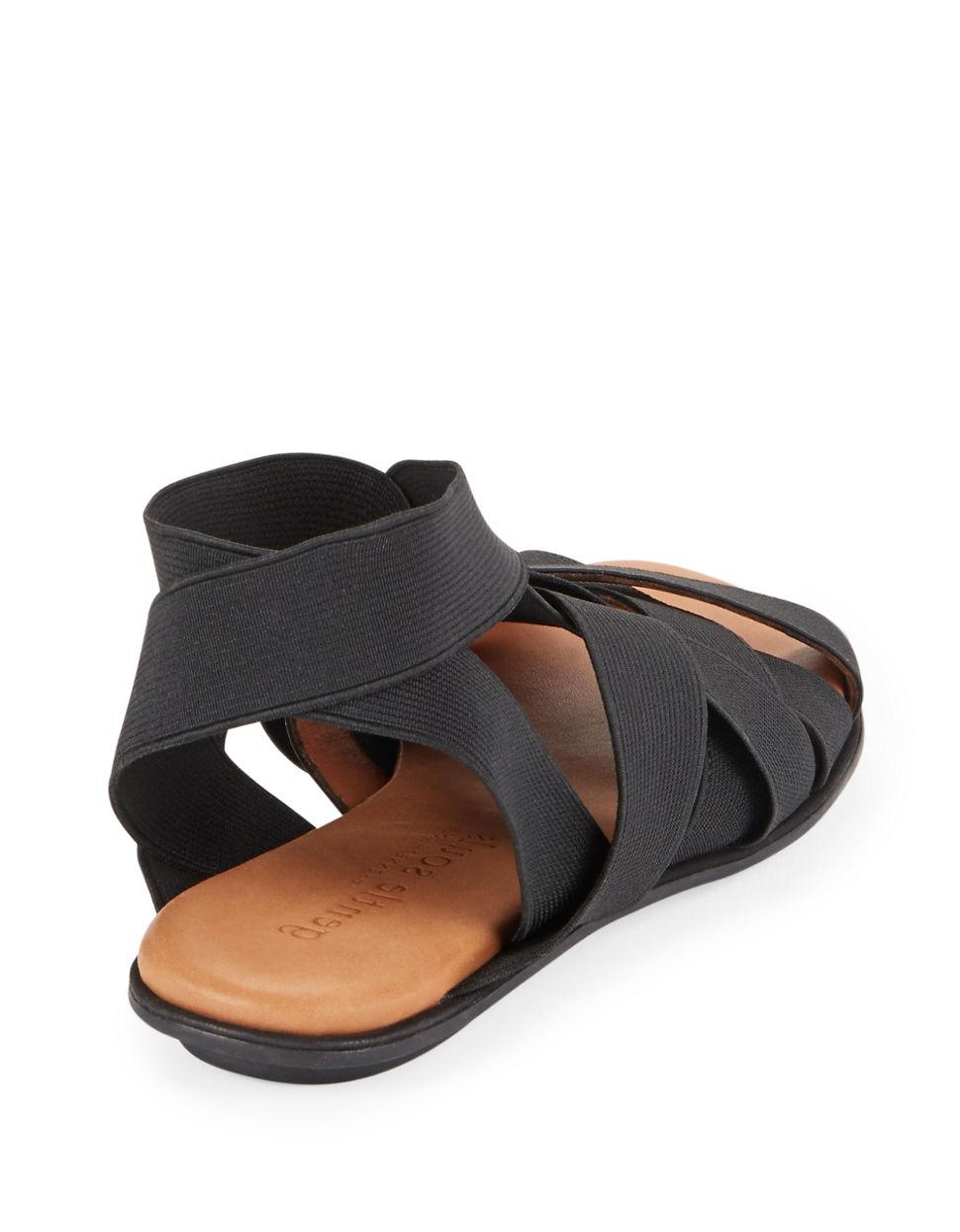 Gentle Souls Bari Elastic Strap Sandals In Black Lyst