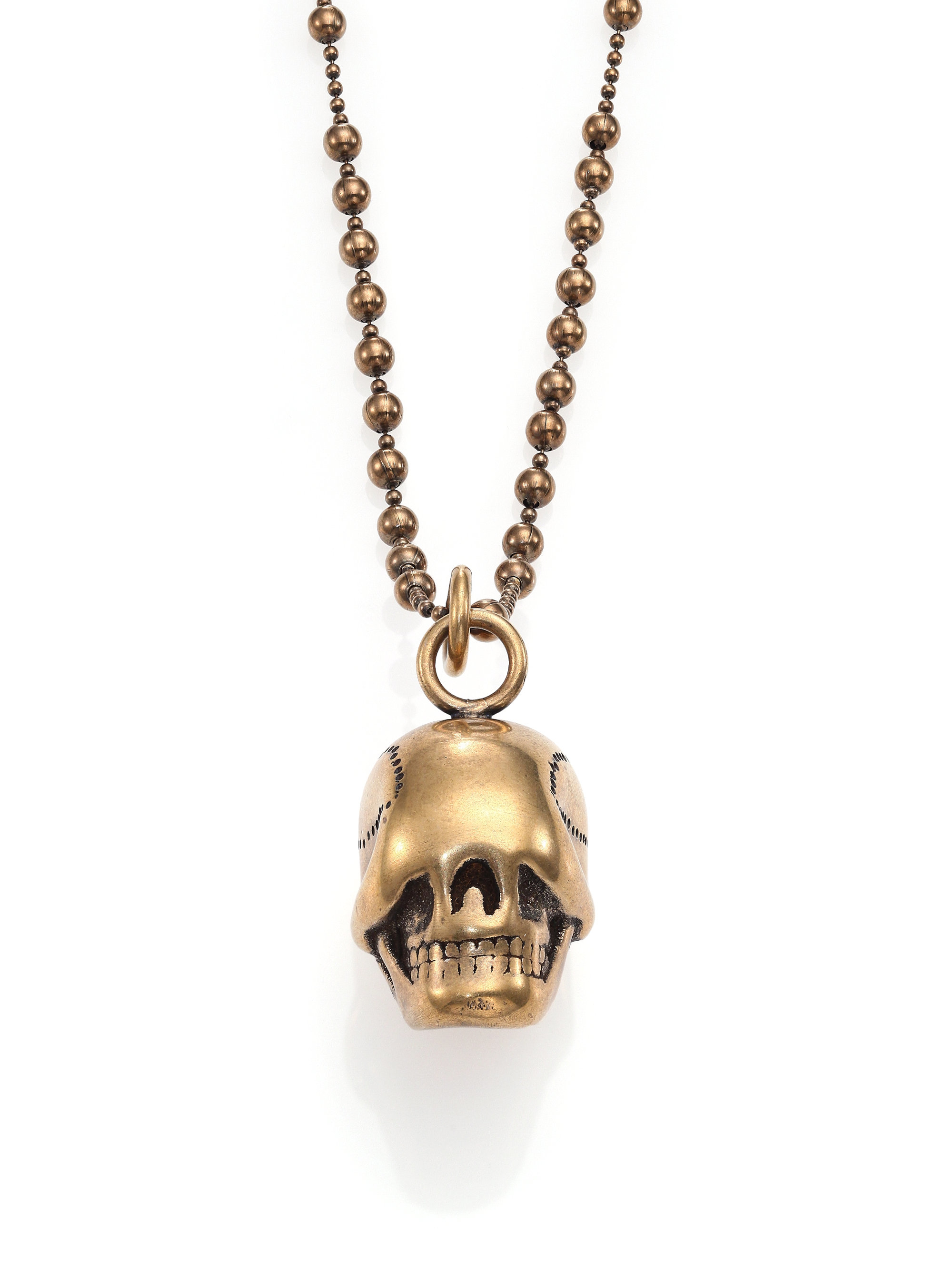 givenchy skull necklace in metallic for lyst