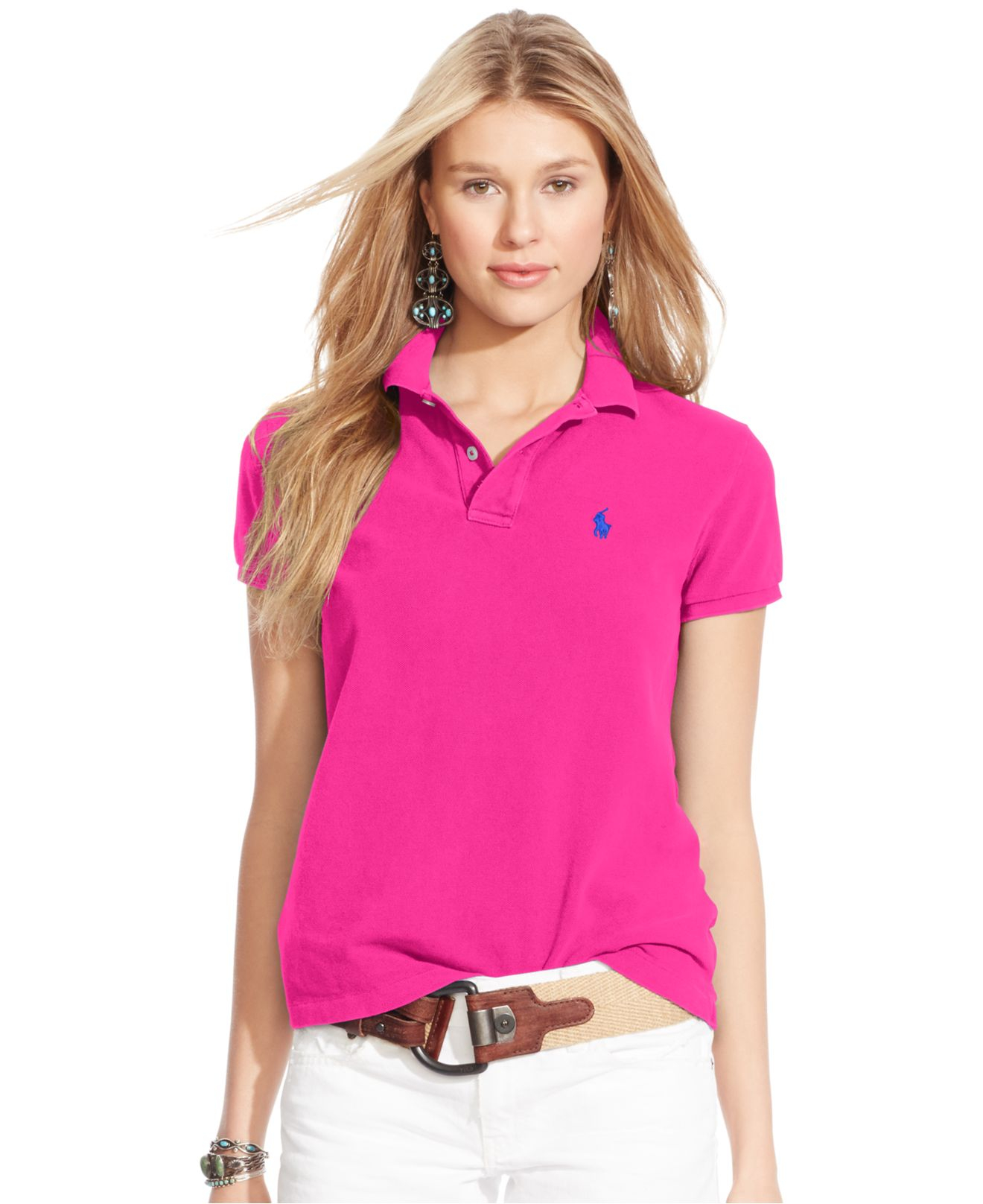 Lyst - Polo Ralph Lauren Classic-Fit Polo Shirt in Pink 396d61925a