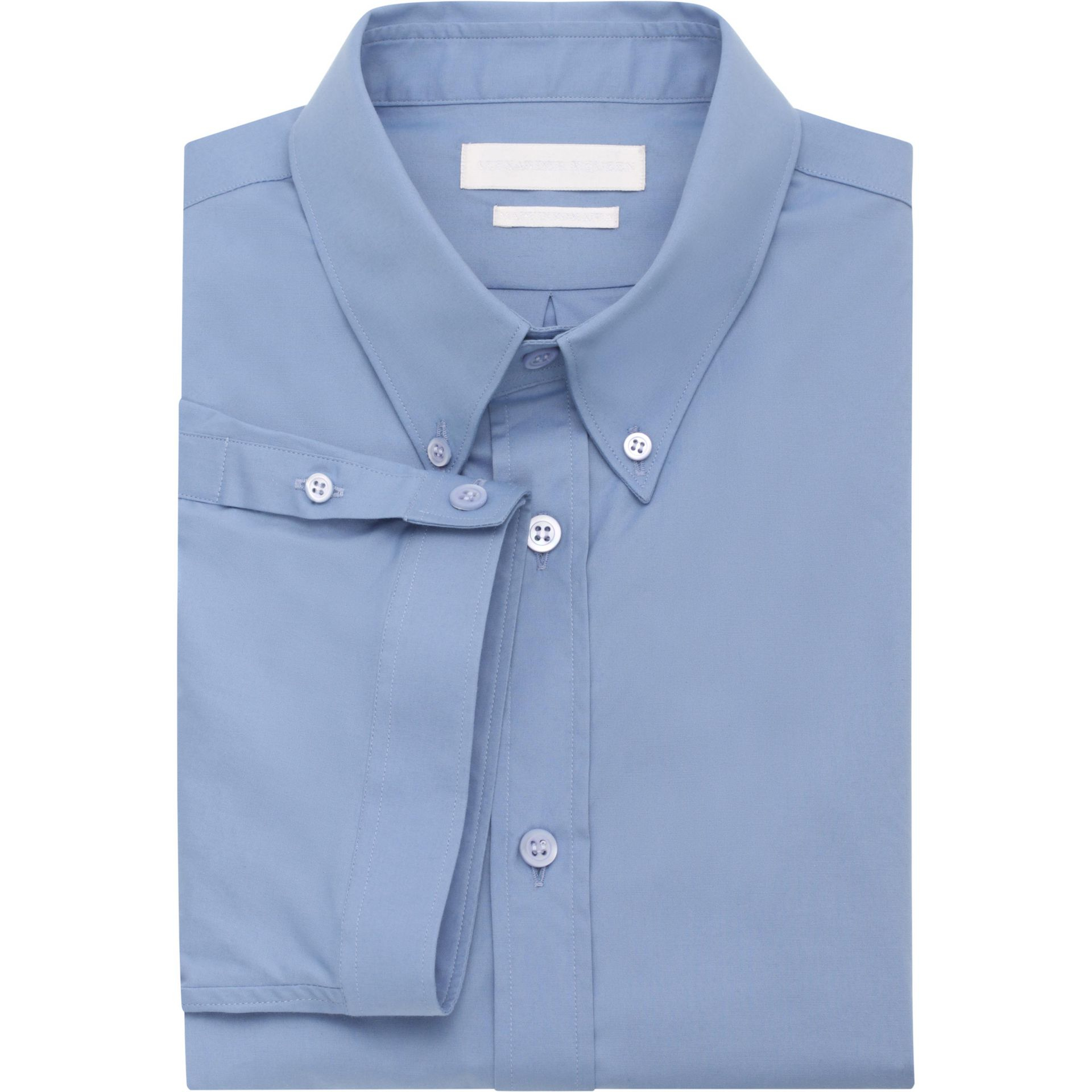 Alexander Mcqueen Wide Cuff Short Sleeve Shirt In Blue For