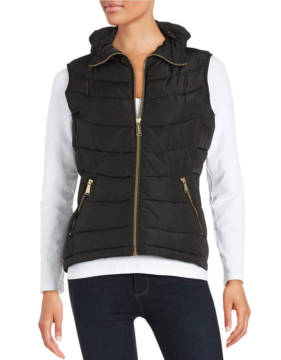 Calvin Klein Quilted Puffer Vest In Black