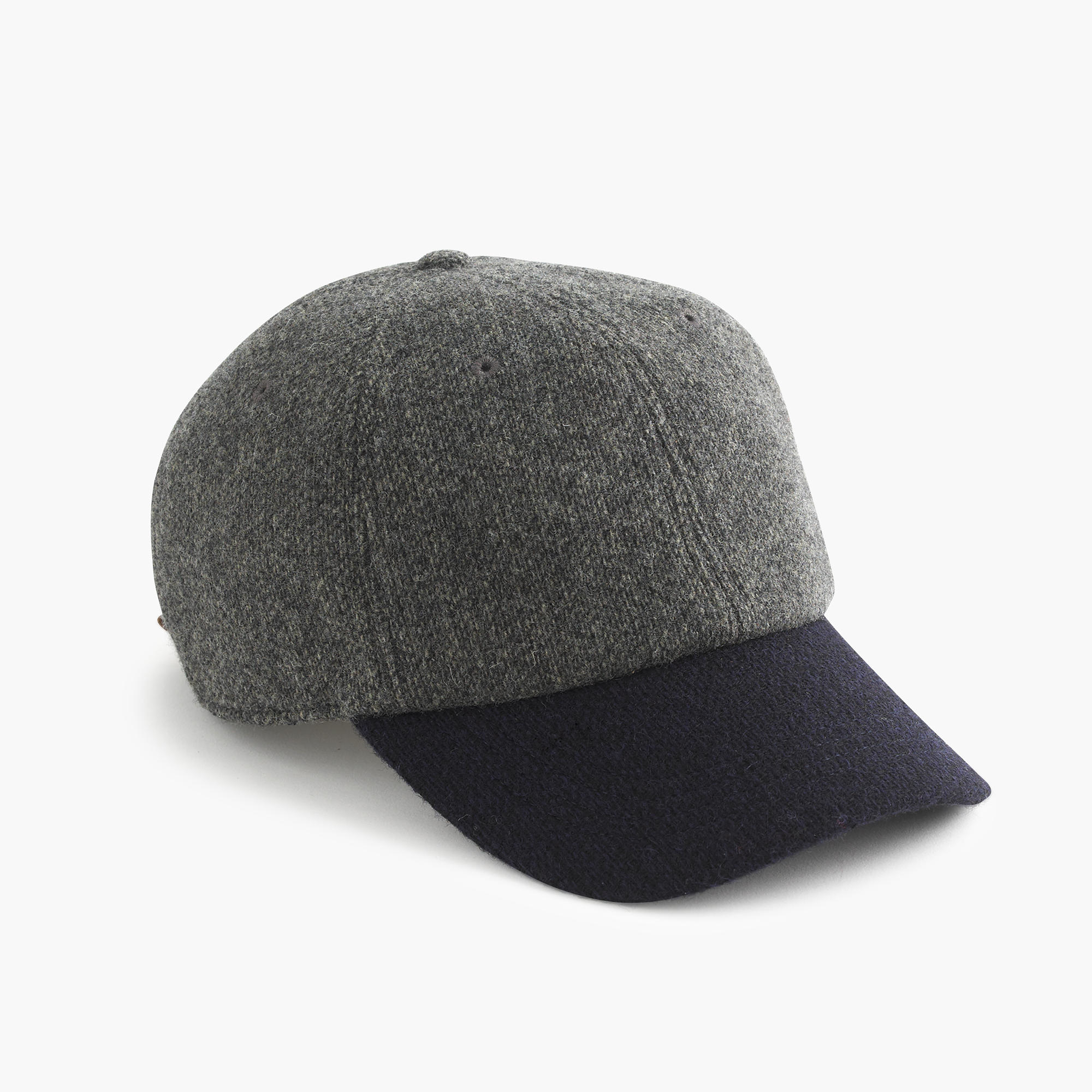 J Crew English Wool Baseball Cap In Gray For Men Lyst