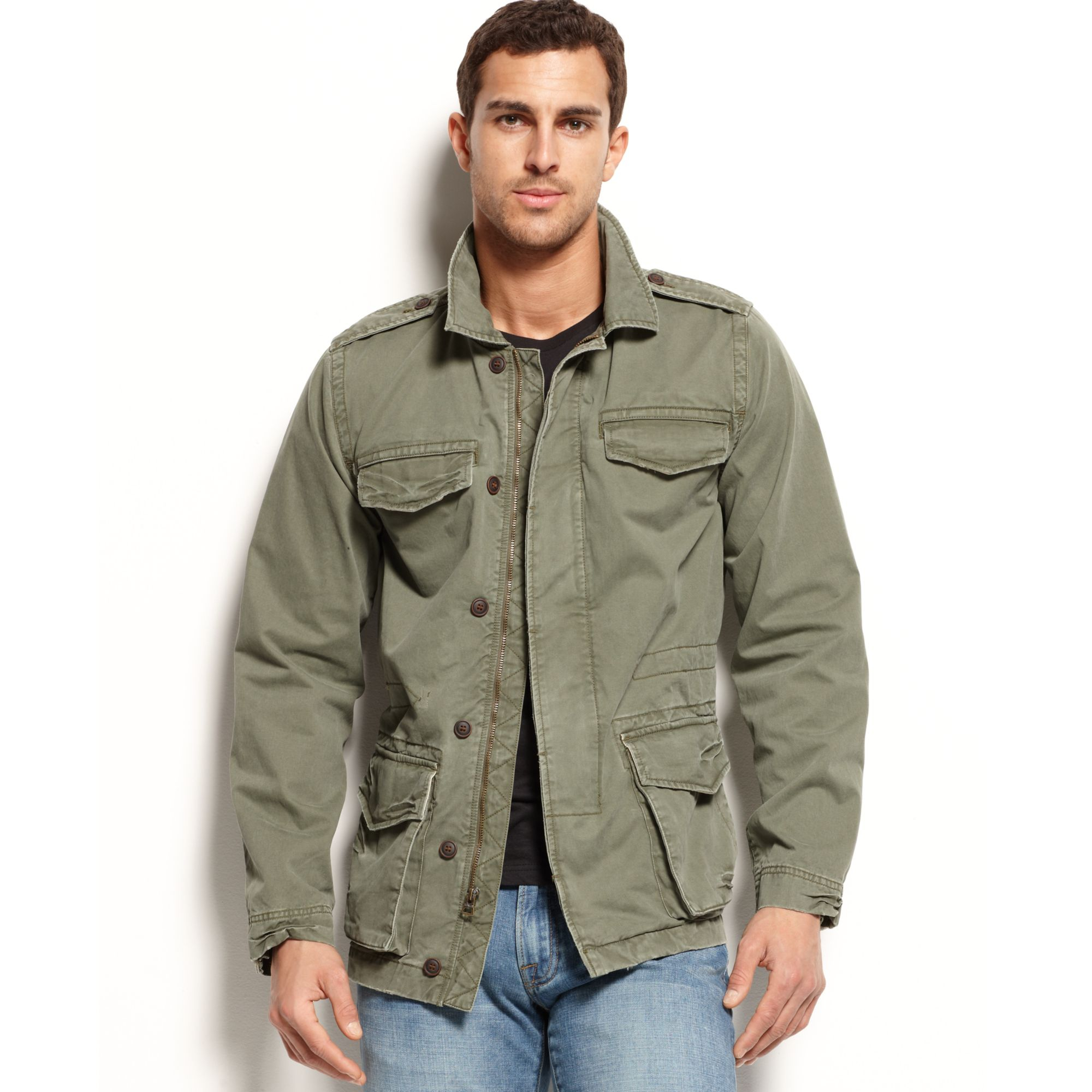 Lucky Brand M65 Field Jacket In Green For Men | Lyst