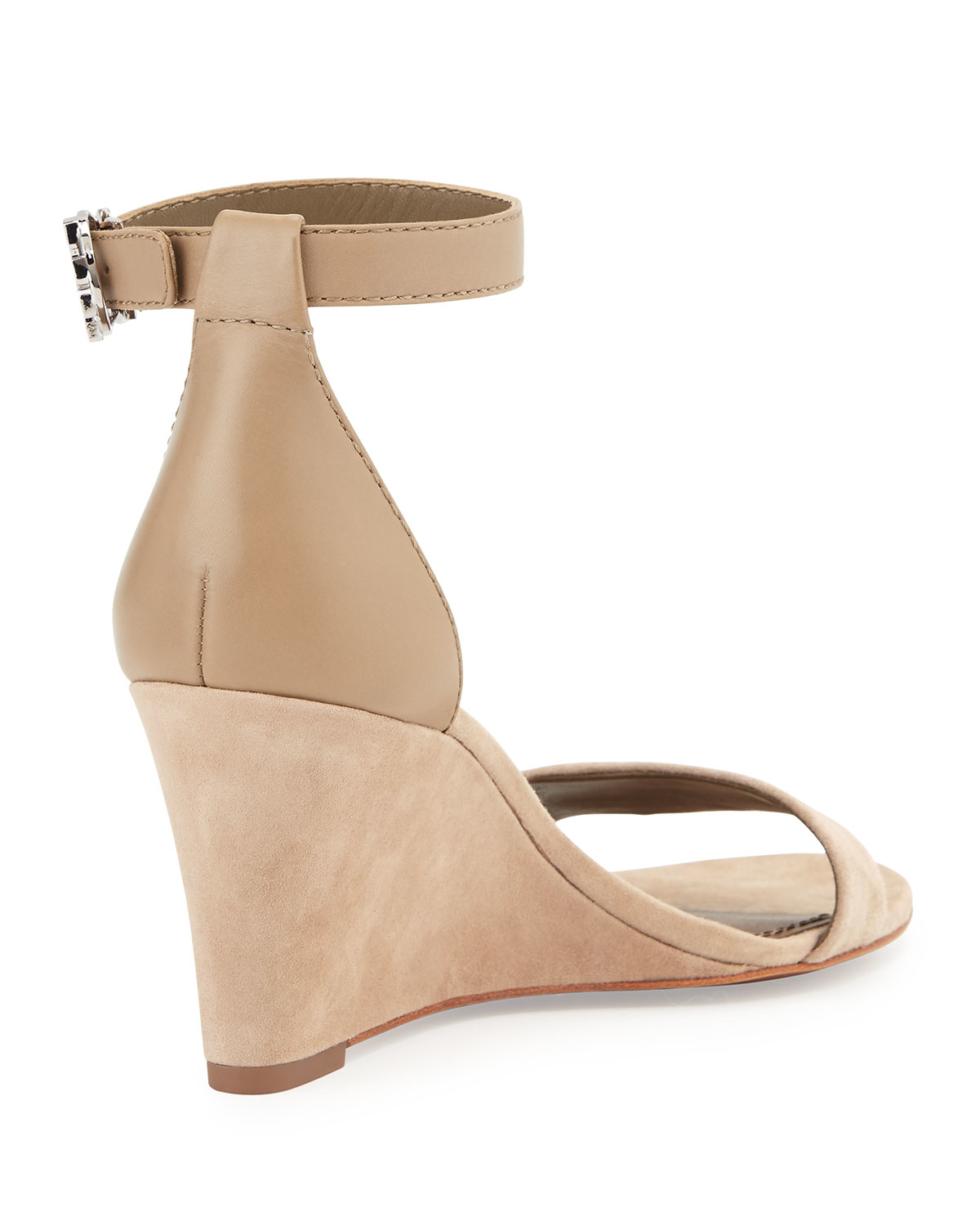 80a17bb7e3e Lyst - Tory Burch Thames Suede Wedges in Brown
