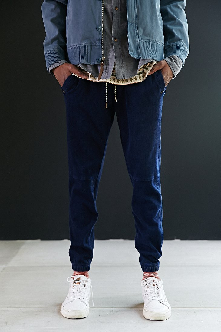 Koto Edo Twill Jogger Pant in Blue for Men | Lyst