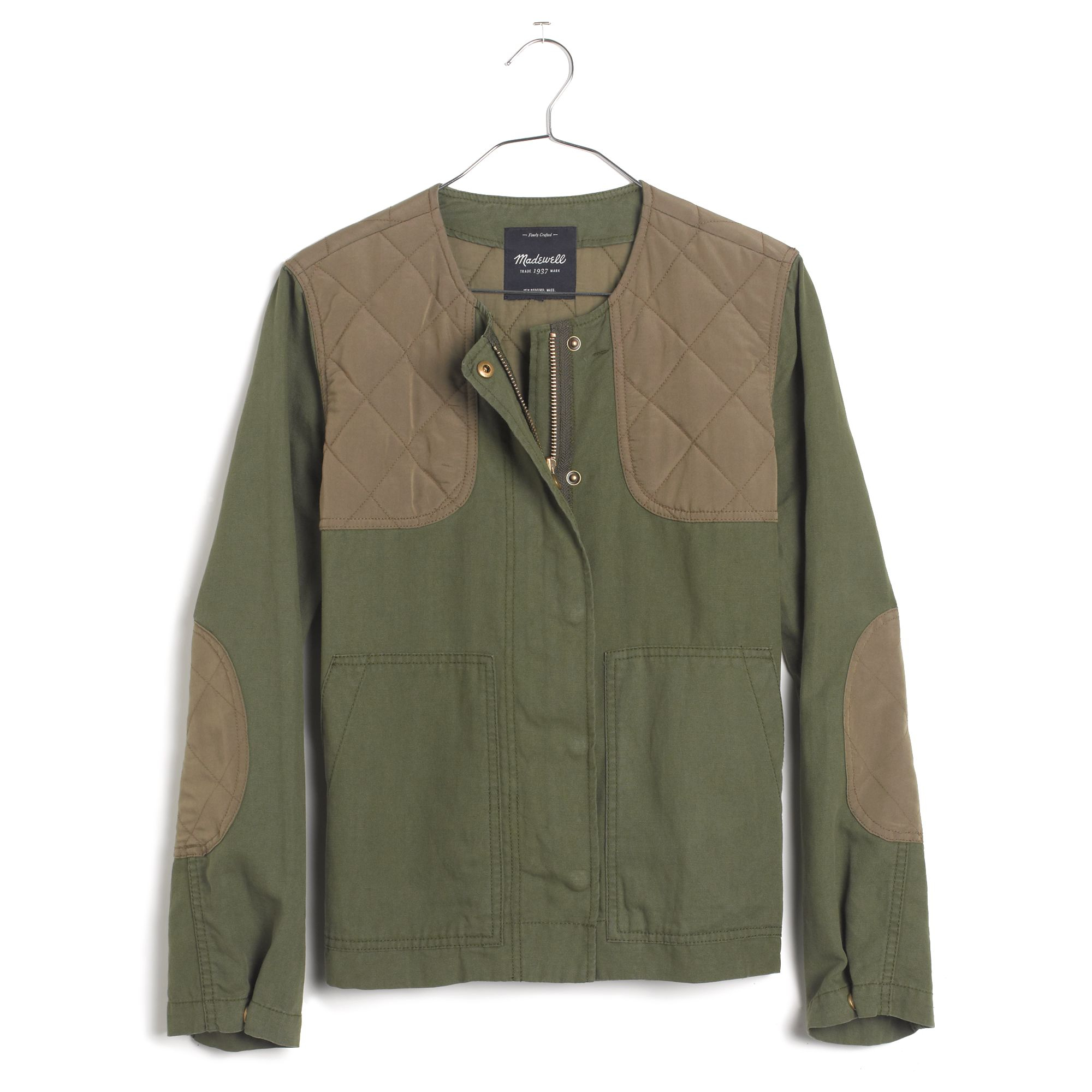 Madewell Quilted Bomber Jacket In Green Lyst