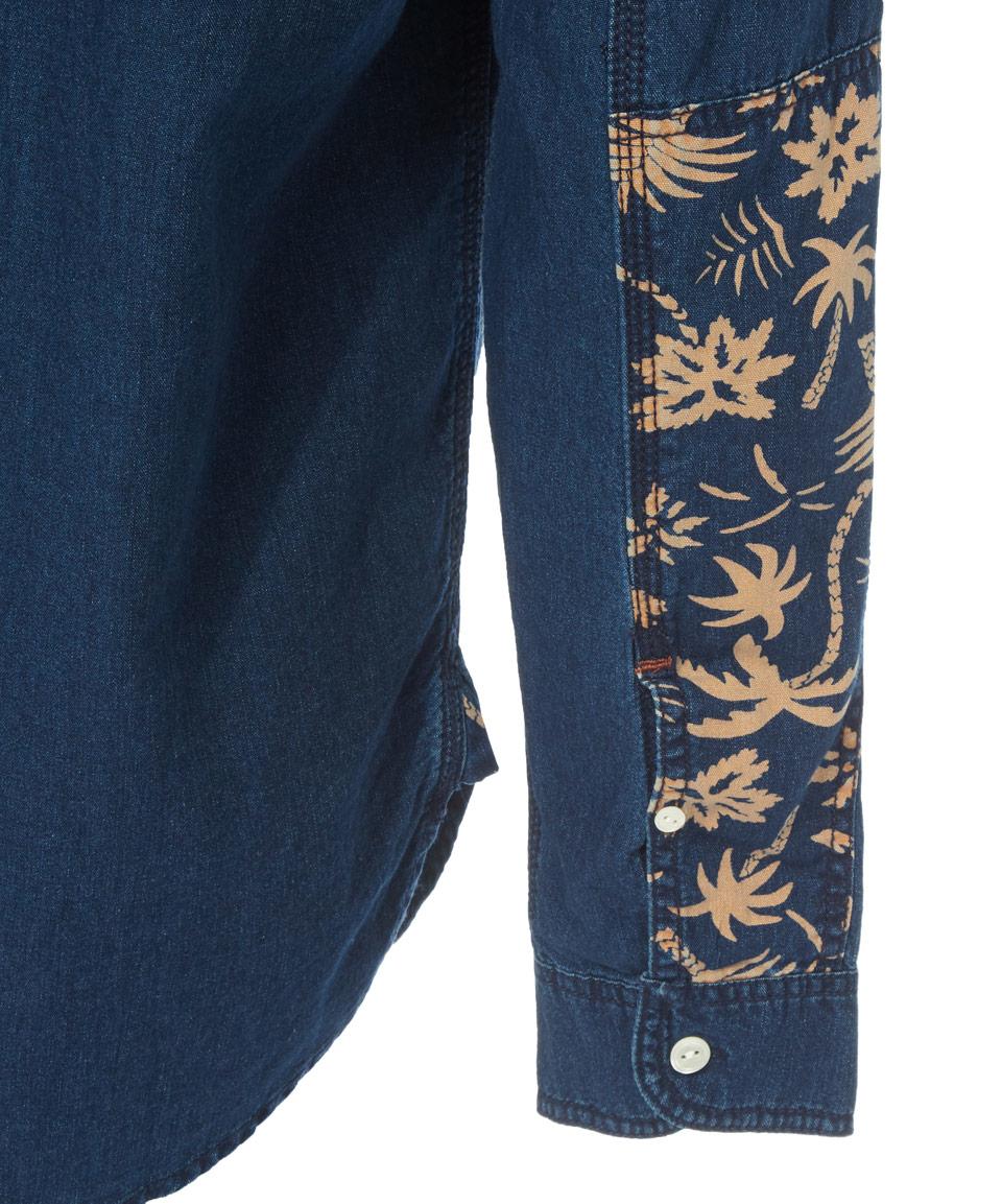 ea6d2088d5 Lyst - Paul Smith Indigo Palm Denim Shirt in Blue for Men