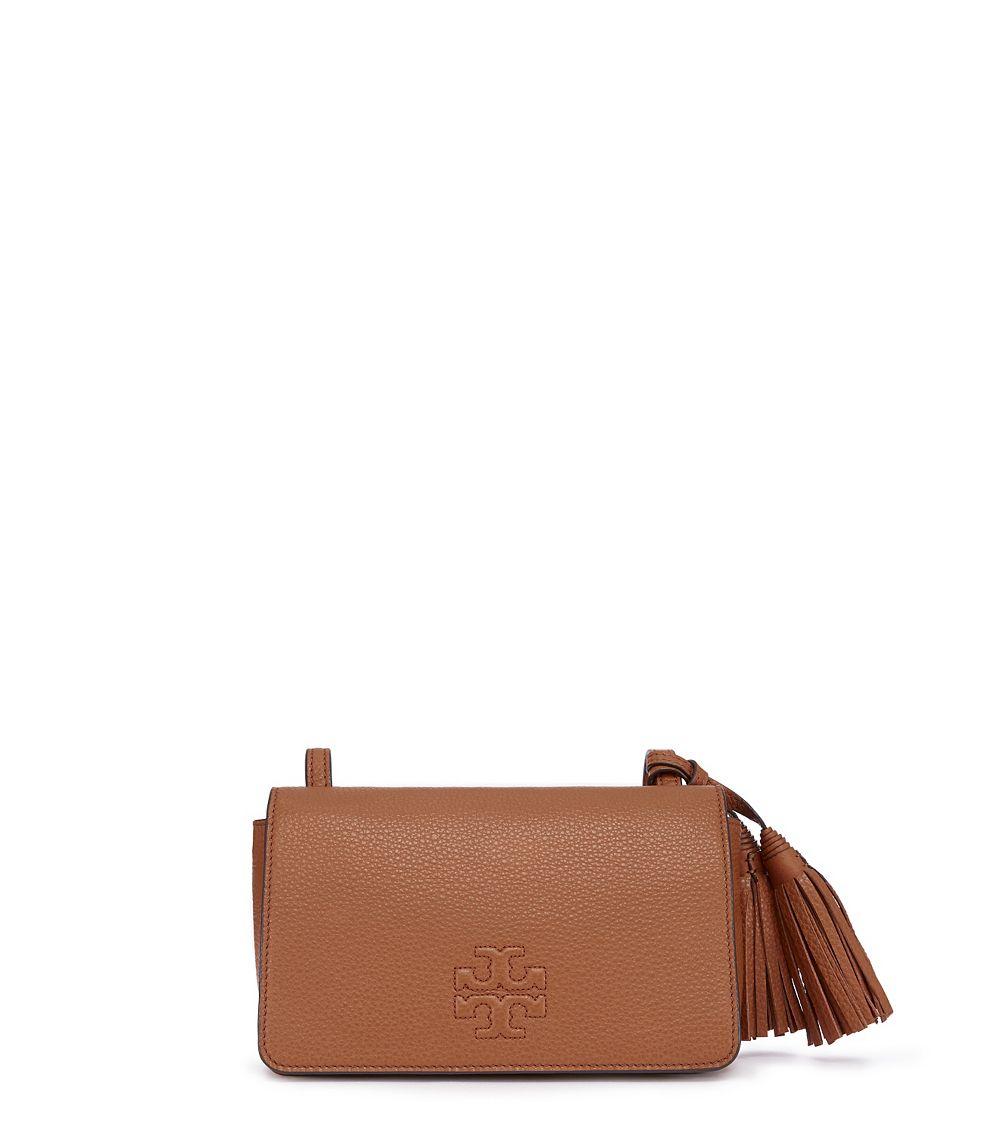 80ca4f084ad Lyst - Tory Burch Thea Mini Bag in Brown