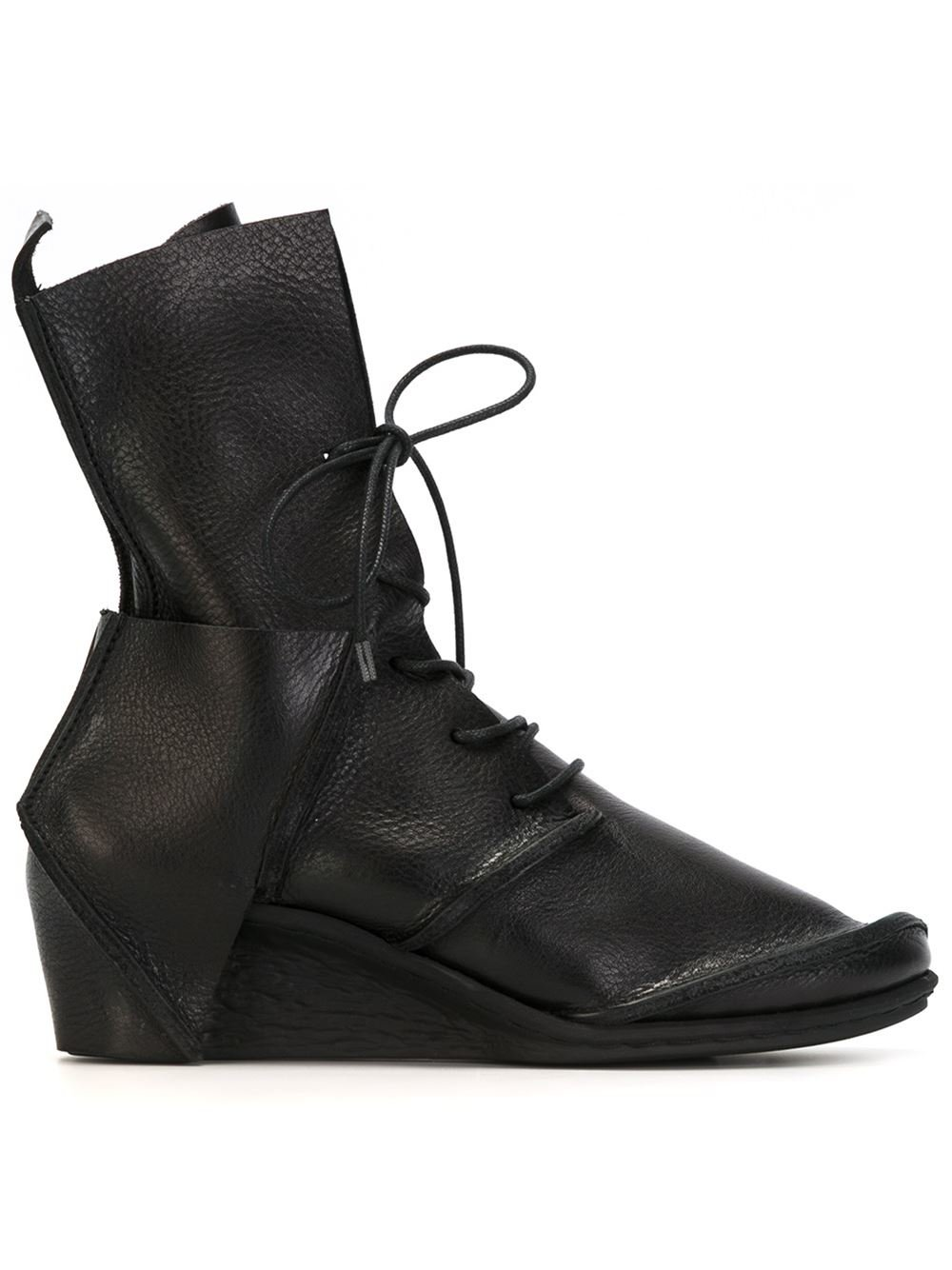 trippen lace up wedge boots in black lyst