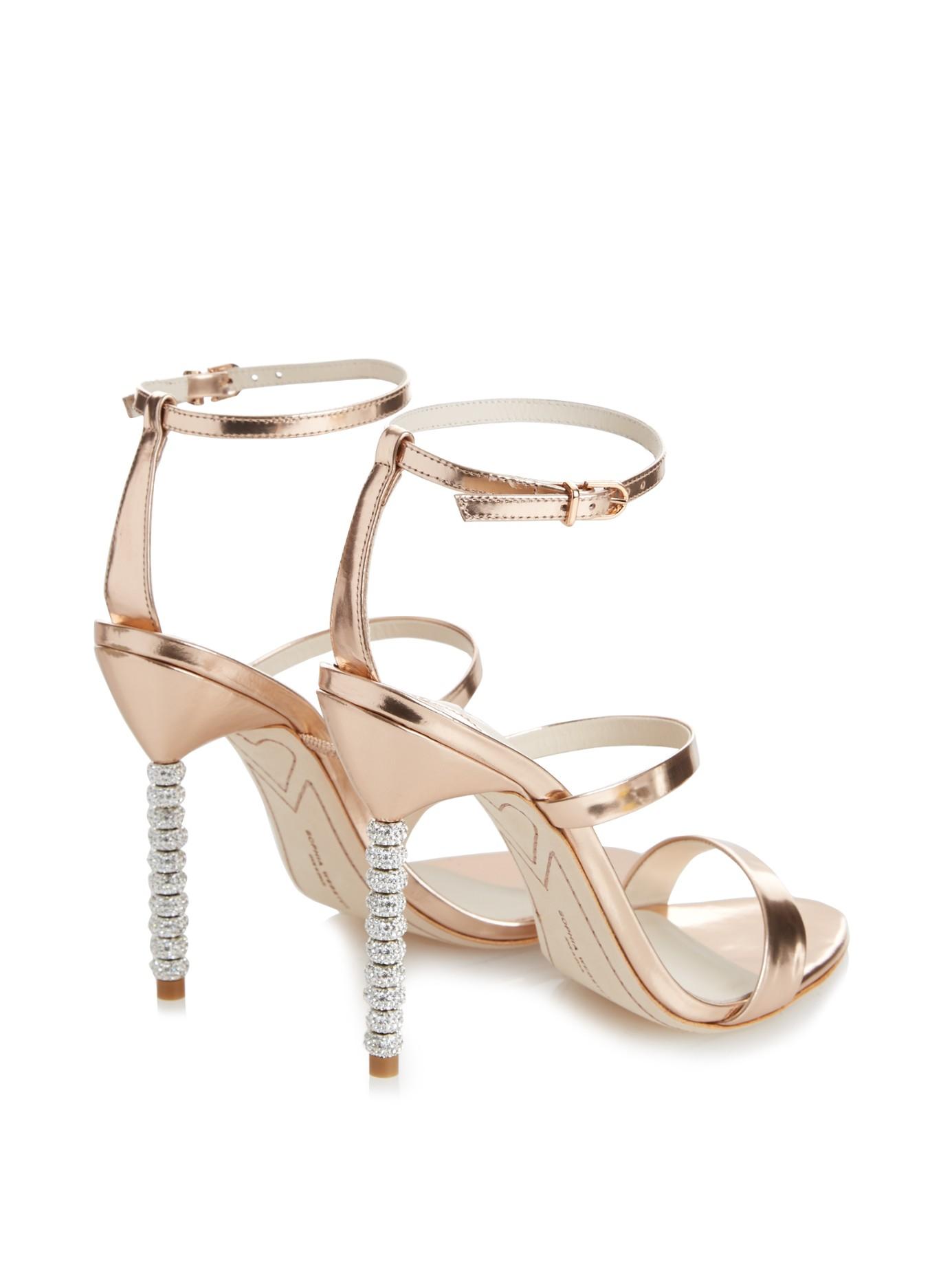 Rosalind Crystal-embellished Glittered Canvas Sandals - Gold Sophia Webster 9TZ7hXY1