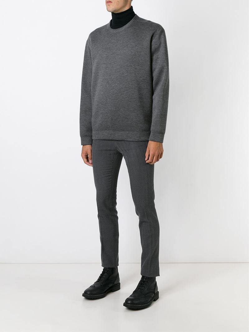 Christopher Kane Wool Herringbone Trousers in Grey (Grey) for Men