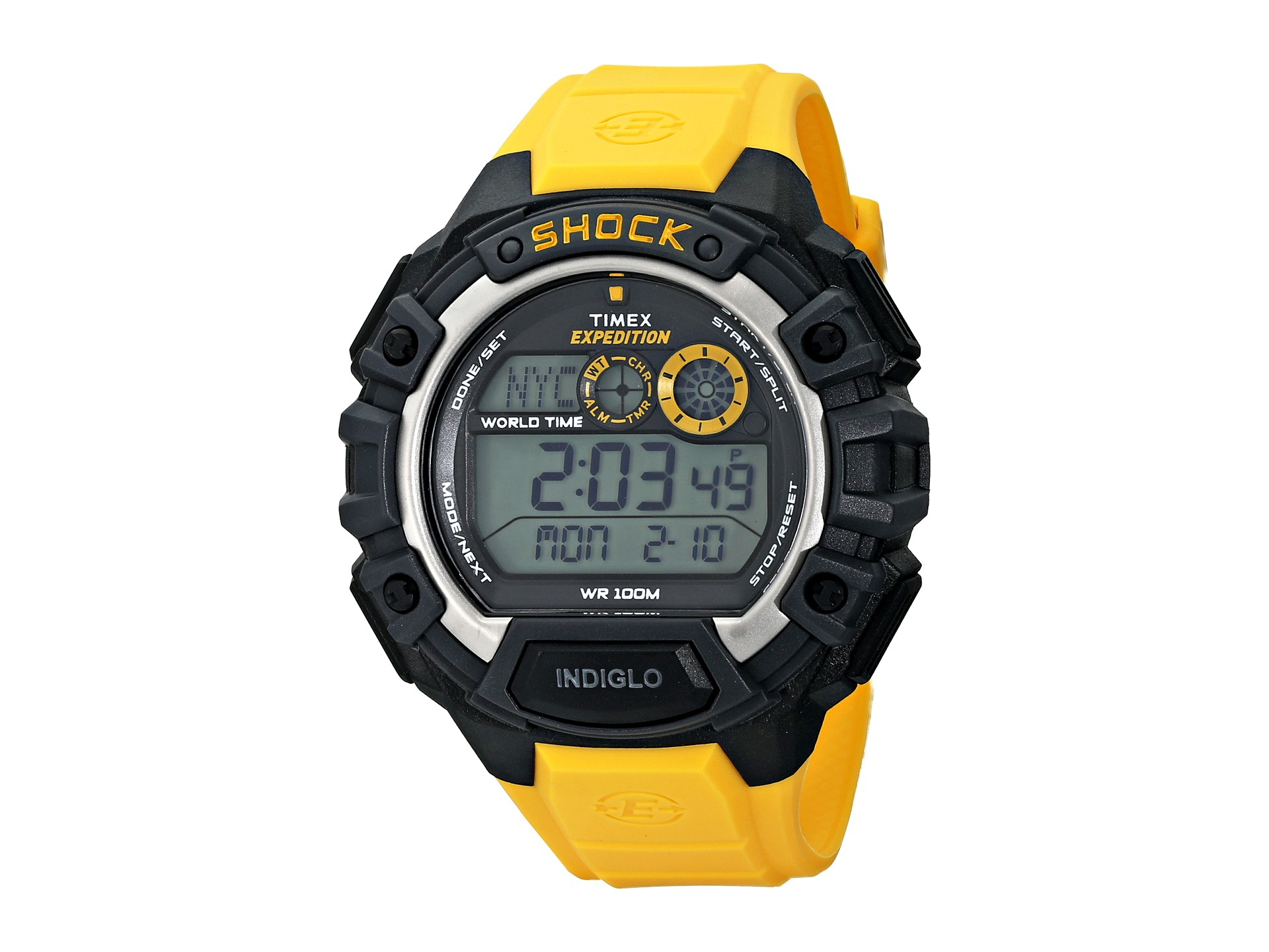 timex expedition global shock in yellow for lyst