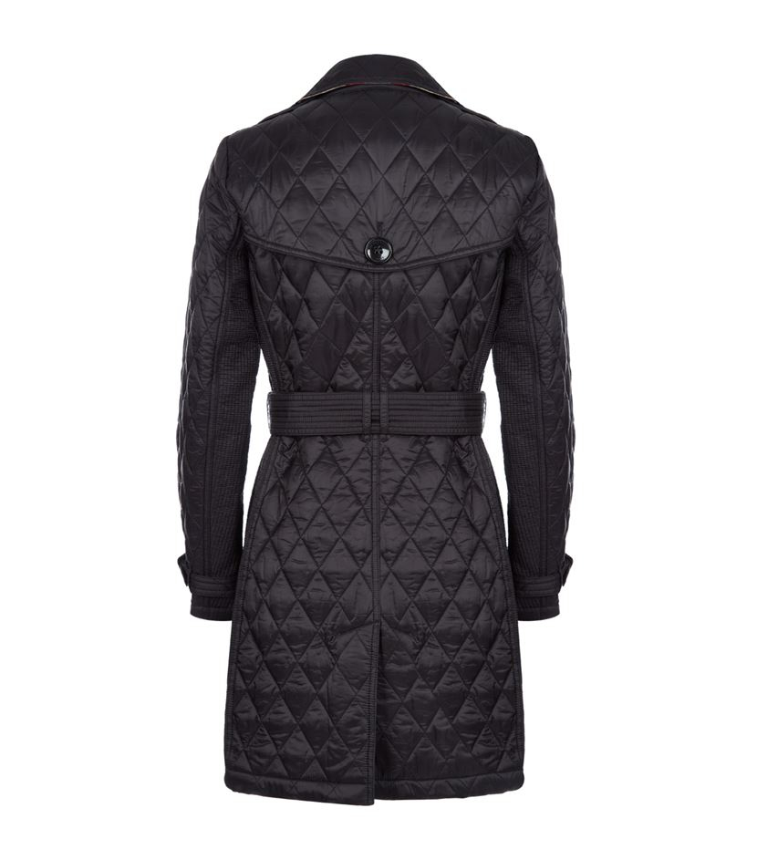 Burberry Goldsmead Quilted Trench Coat In Blue Lyst