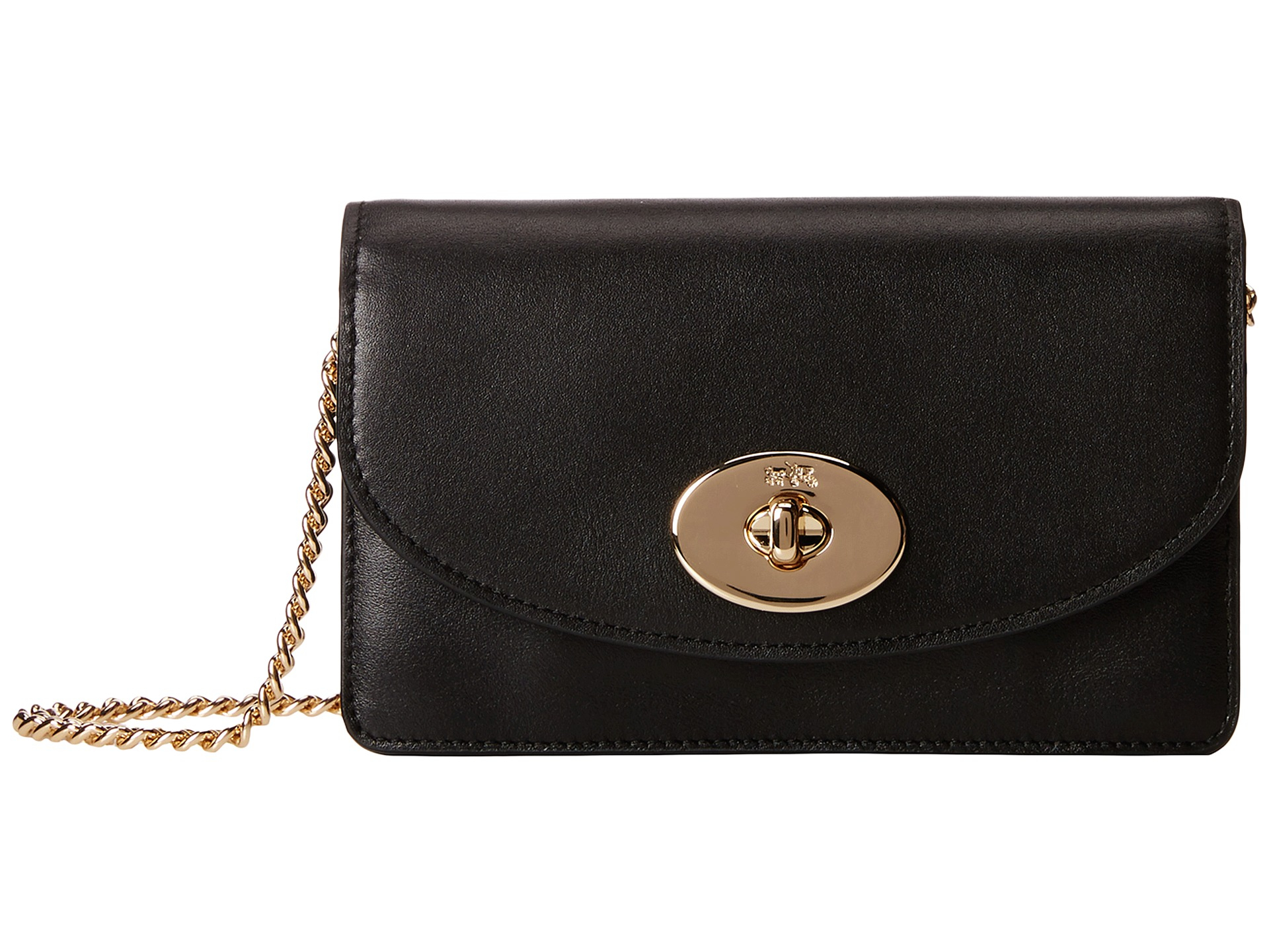 2b799cc8cd103 ... low cost lyst coach smooth leather clutch chain wallet in black e6ddd  01a70