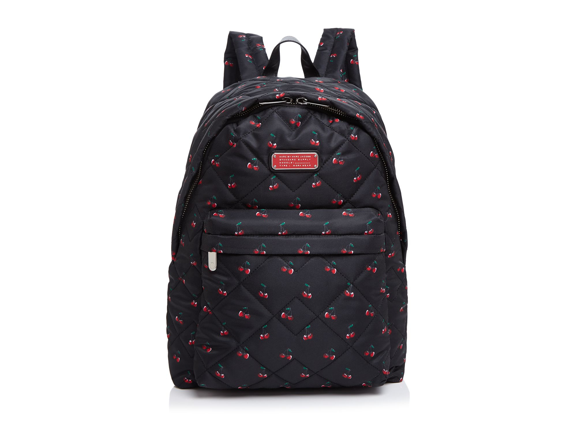 96920b76cbc22 Marc By Marc Jacobs Crosby Quilt Nylon Lemon Print Backpack in Red ...