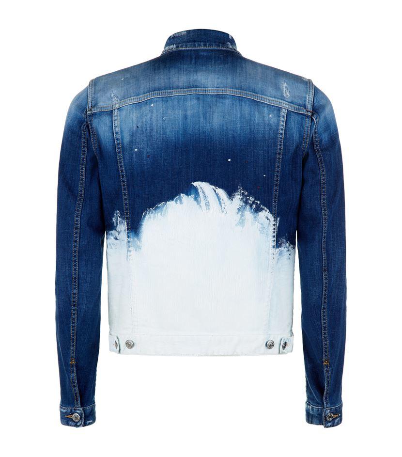 Dsquared 178 Bleached Ombr 227 169 Denim Jacket In Blue For Men Lyst