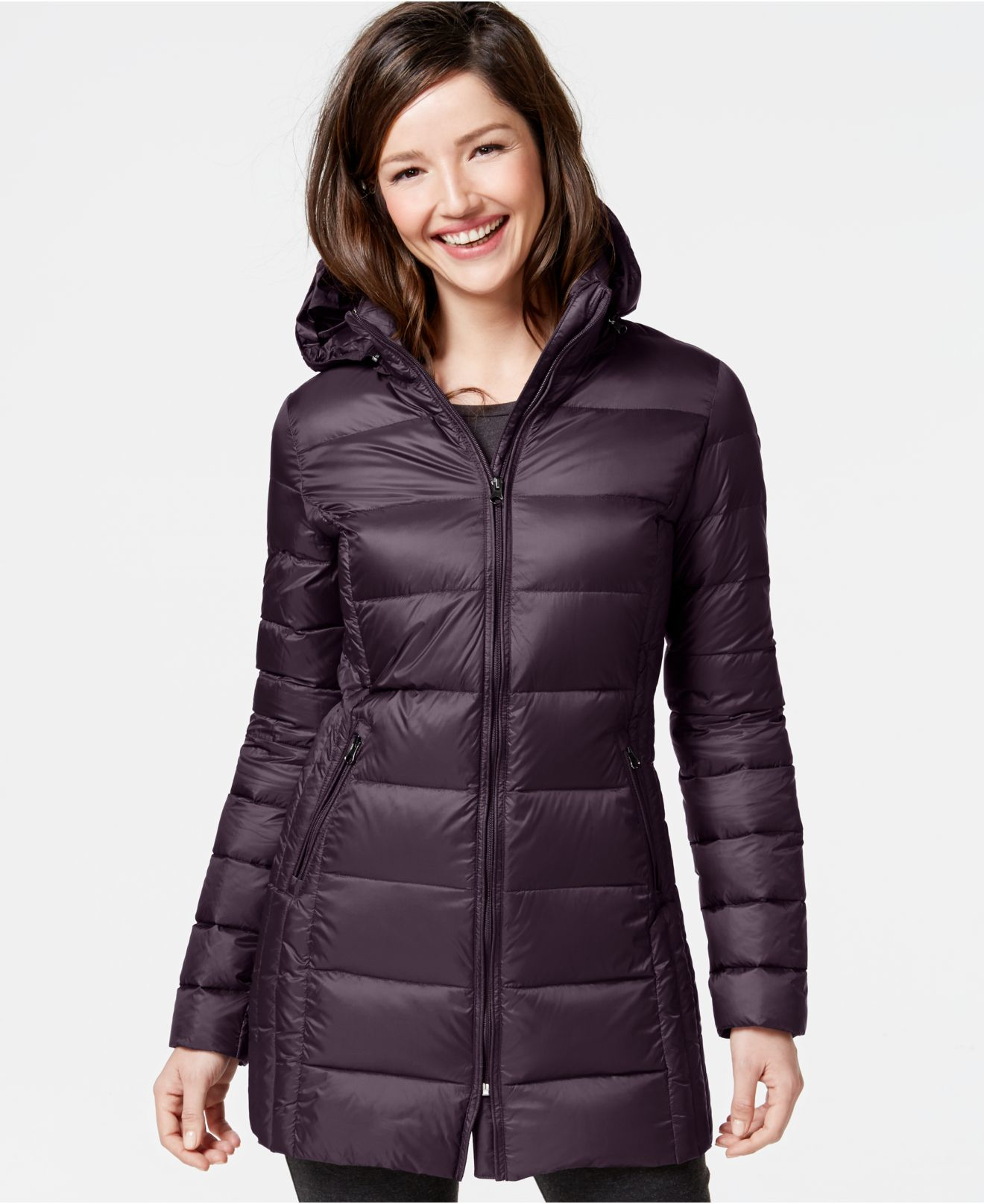 ce5560ffe23c Lyst - 32 Degrees Quilted Down Packable Puffer Coat in Purple