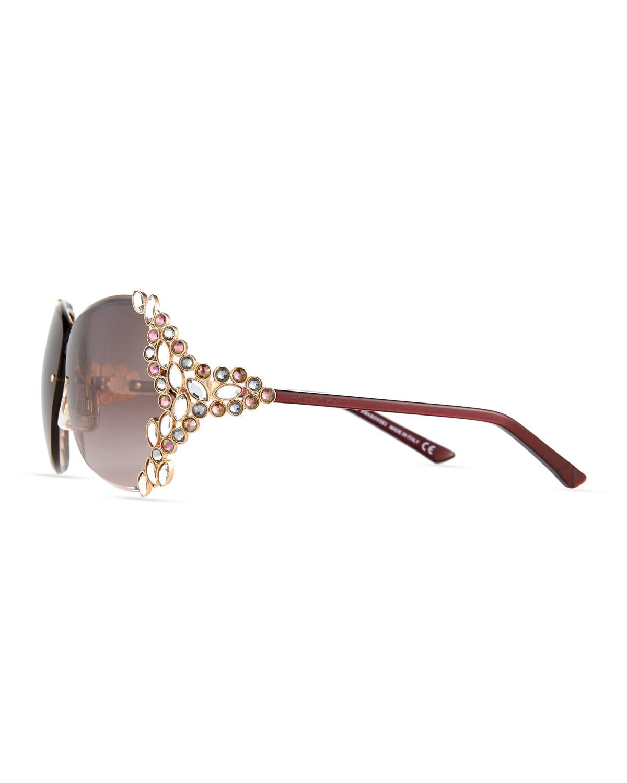 0ad578938f7 Lyst - Swarovski Special Edition Crystal Sunglasses in Metallic