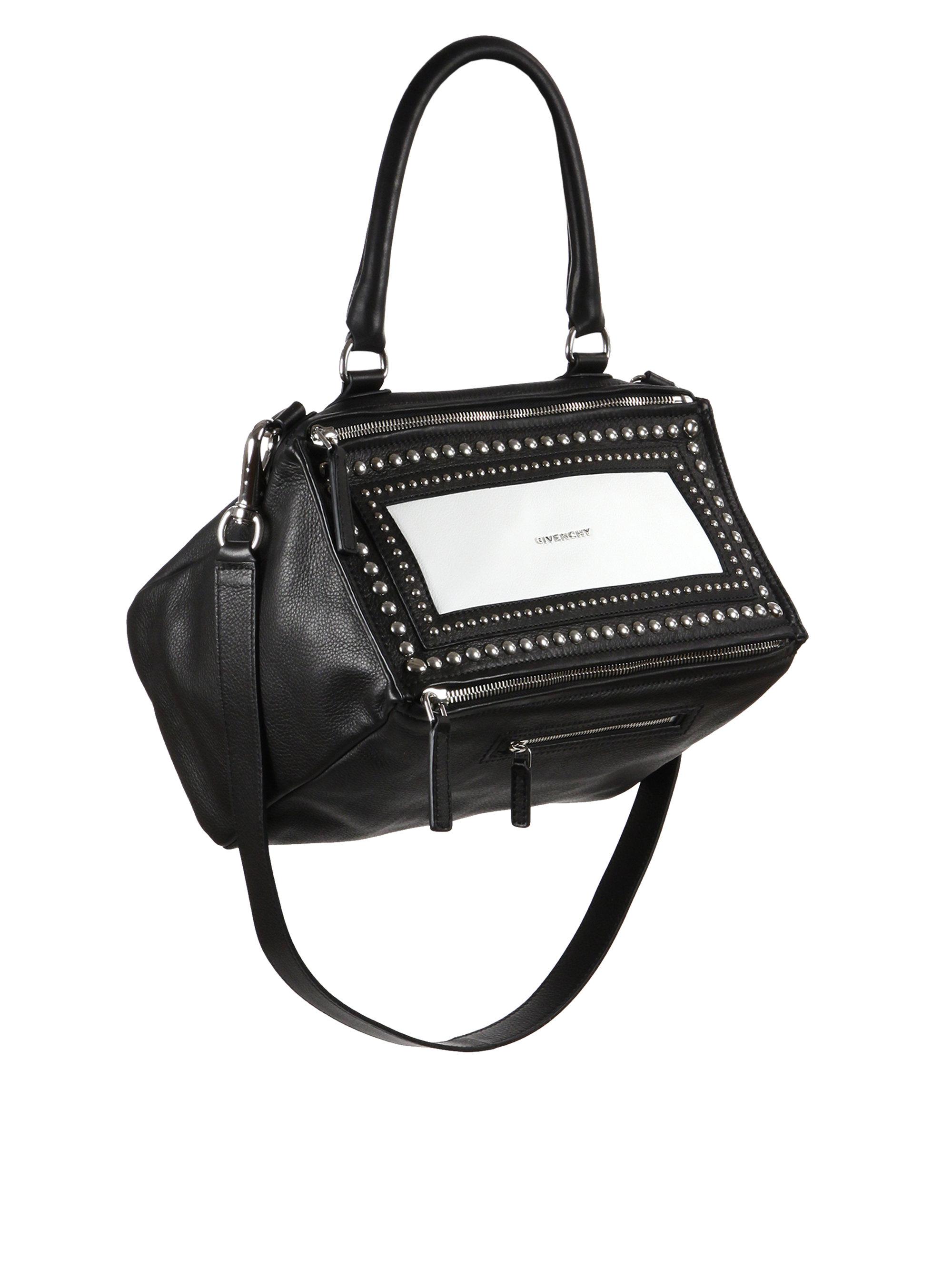 Givenchy Pandora Medium Studded Shoulder Bag in Black | Lyst