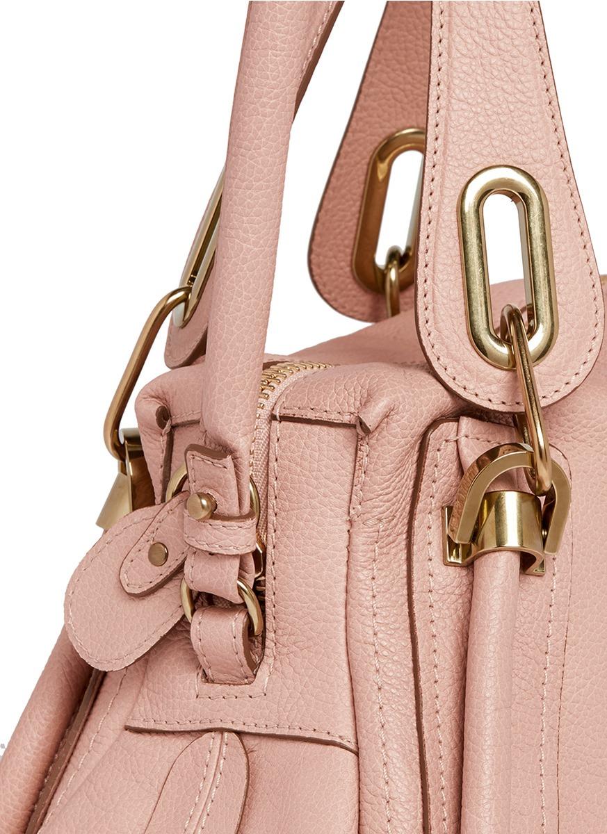 Chlo¨¦ \u0026#39;paraty\u0026#39; Small Leather Bag in Pink   Lyst