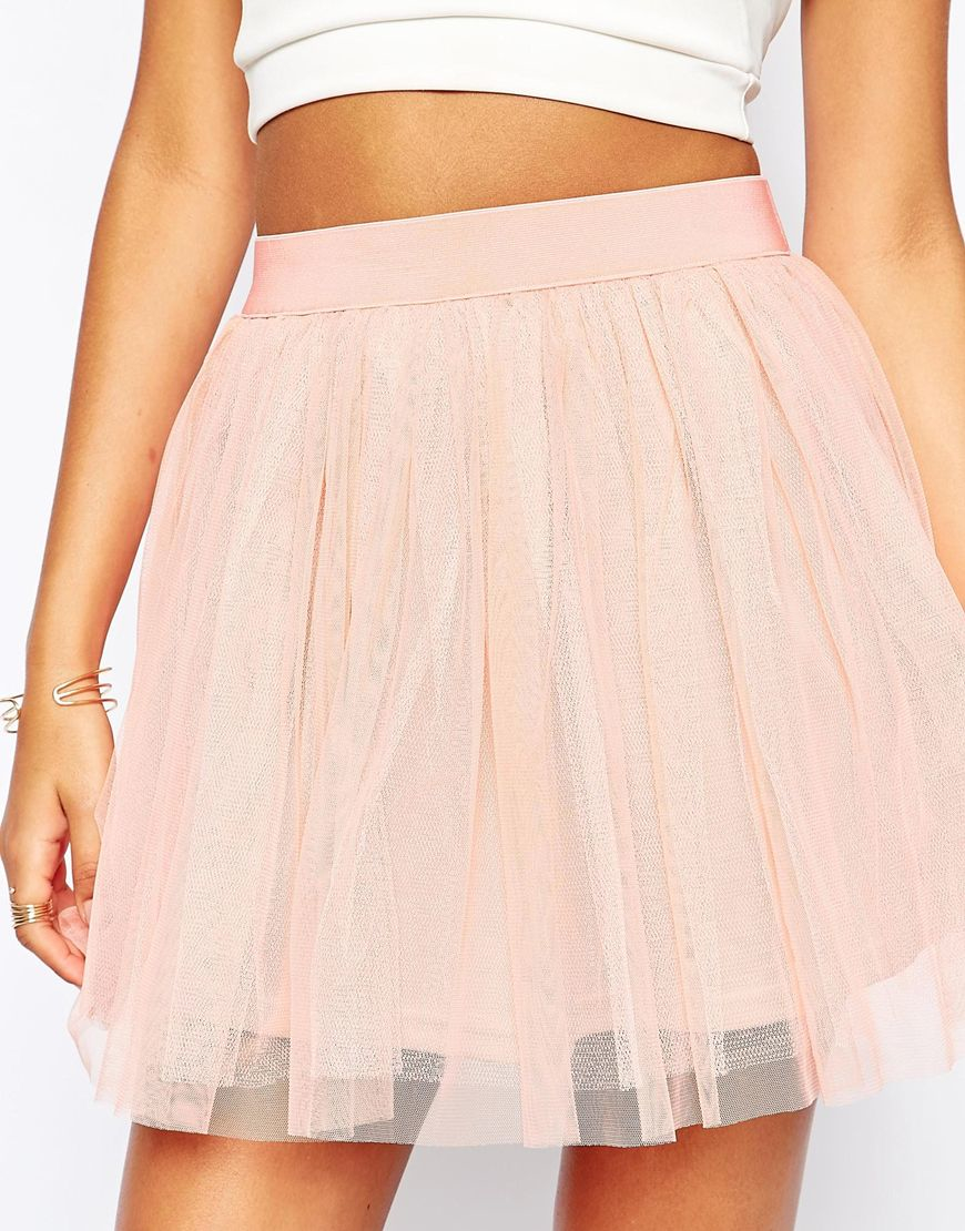 Pink Tulle Mini Dress