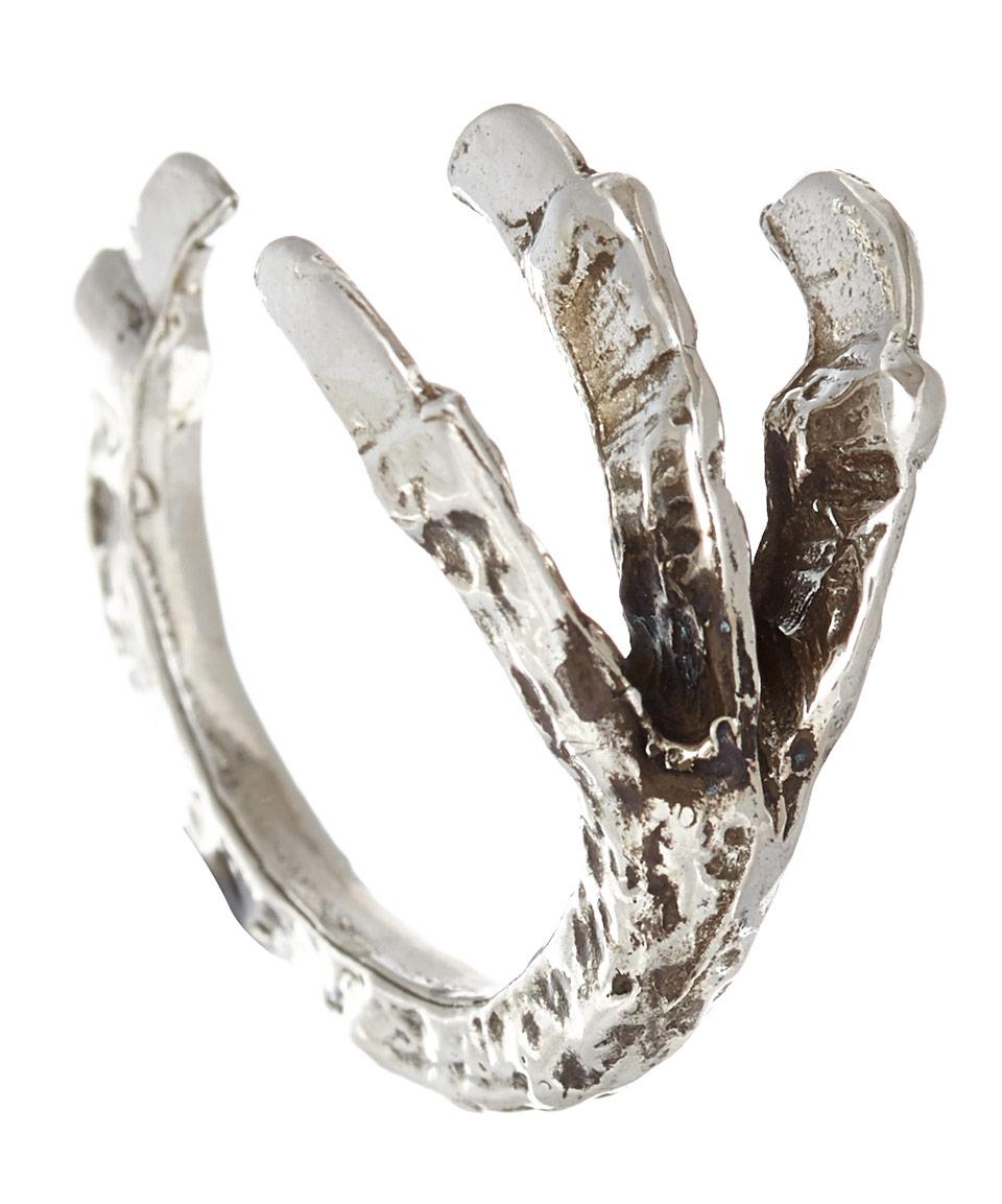 Pamela Love Silver Talon Ring in Metallic