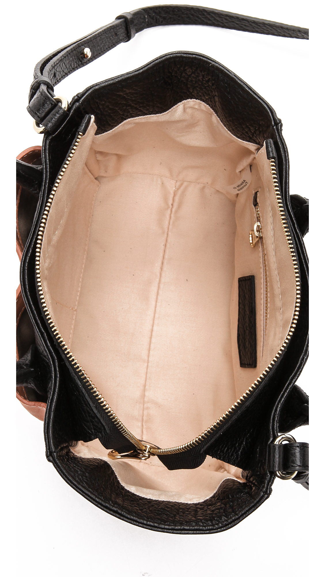 See By Chloé Nellie Small Zip Tote - Black/Pink Sahara in Natural