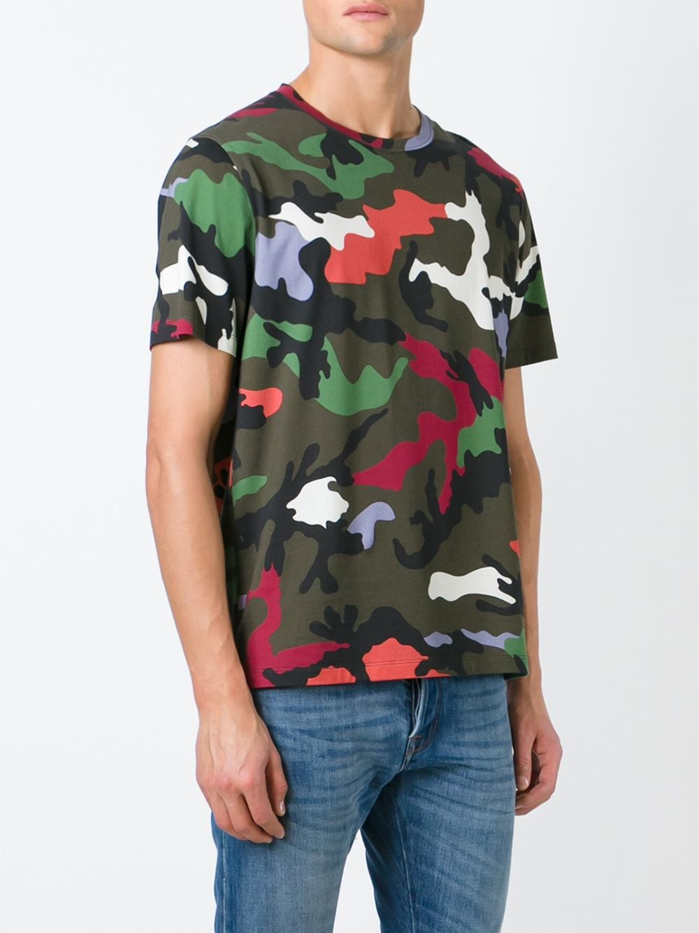 Valentino Camouflage T Shirt In Green Lyst