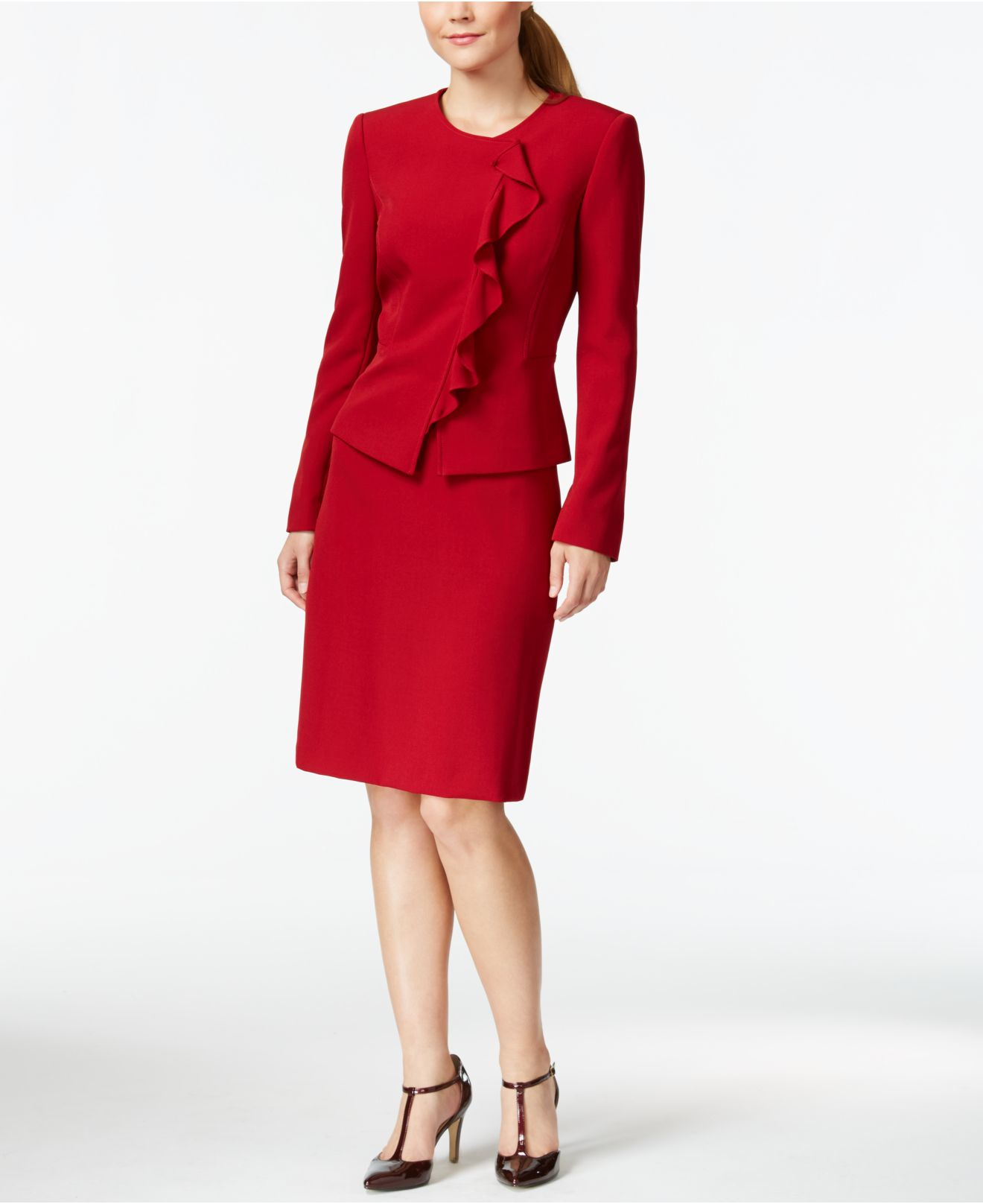 Buy a red suit, or a classic men's red suit jacket and you will not regret the choice of having bought it. The different color combinations for men's fashion red suits Instead of wearing an all red suit, that might make the men feel a little awkward, red dress suits for men come in varied number of options.