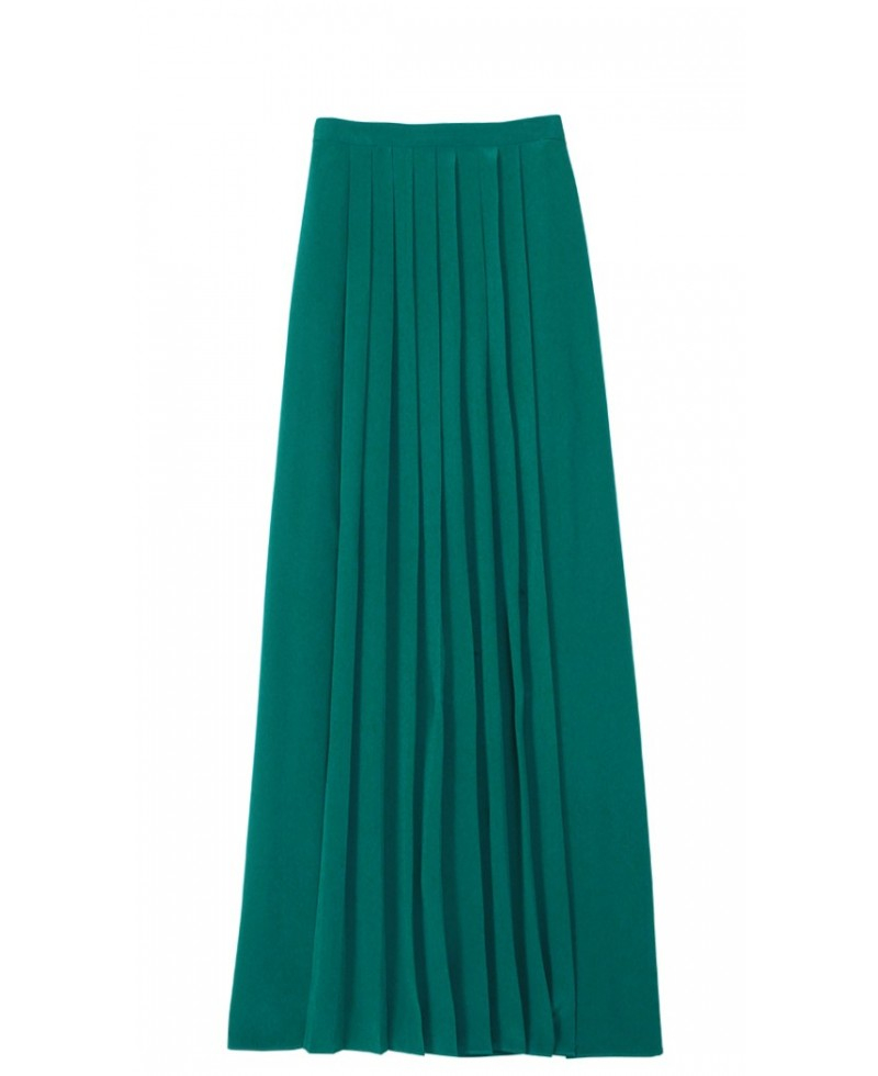 Long Skirt Green - Skirts