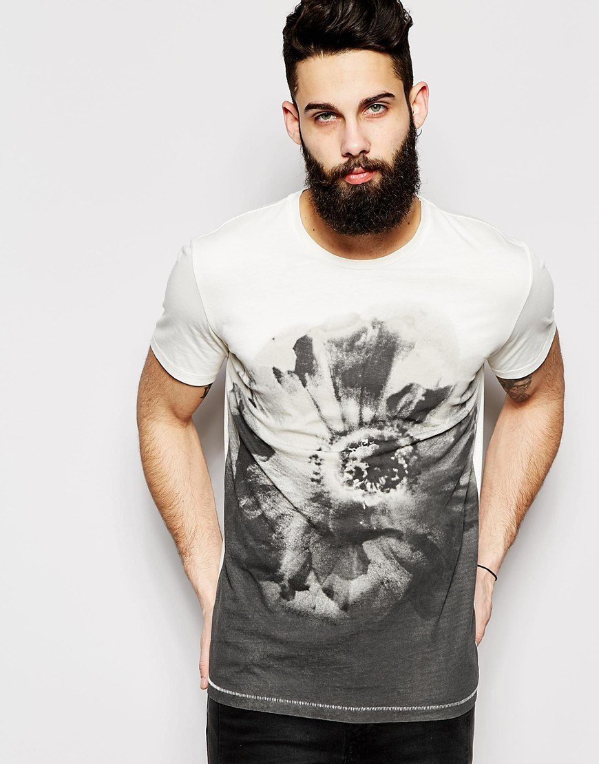 Lyst Only Sons T Shirt With All Over Tattoo Sublimation Print In