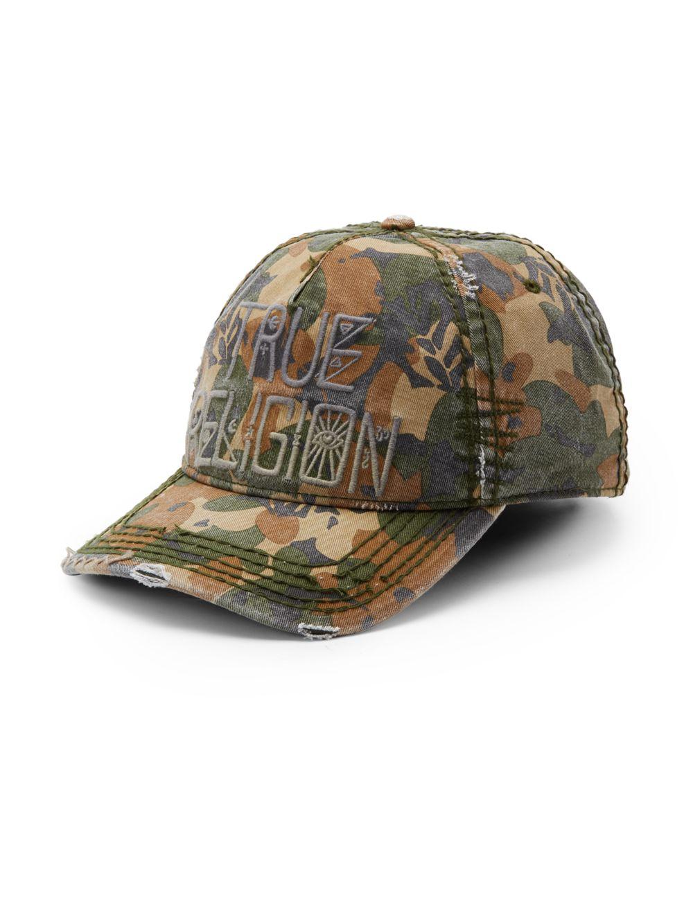 lyst true religion camouflageprint twill baseball cap in green for men. Black Bedroom Furniture Sets. Home Design Ideas