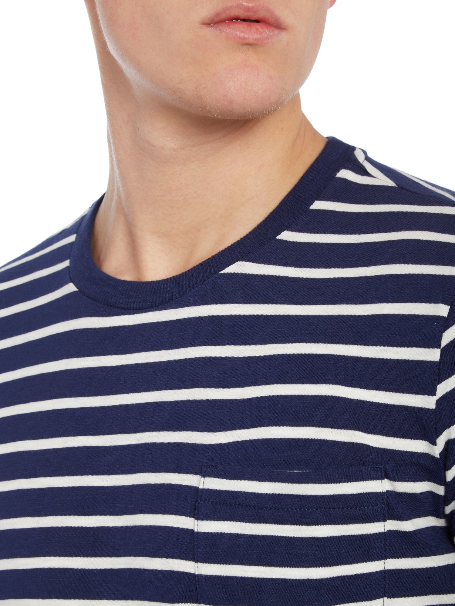 lyst benetton breton stripe pocket short sleeve t shirt. Black Bedroom Furniture Sets. Home Design Ideas