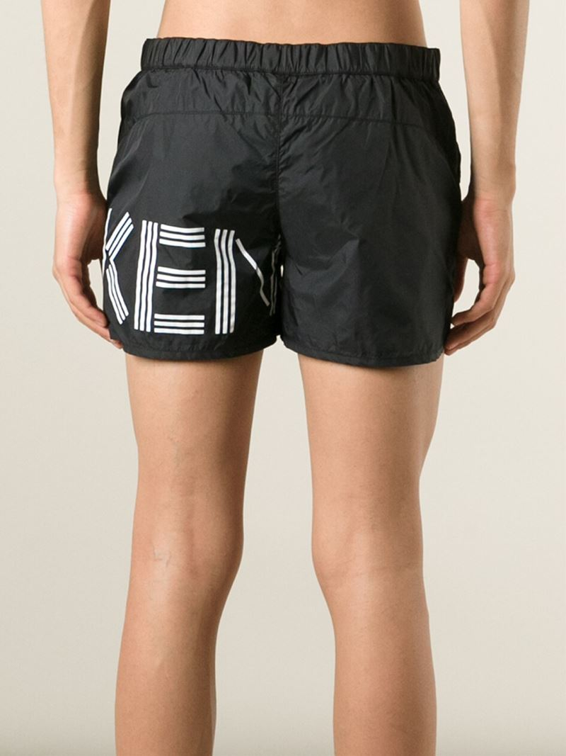 4ce8c0cf KENZO Paris Swim Shorts in Black for Men - Lyst
