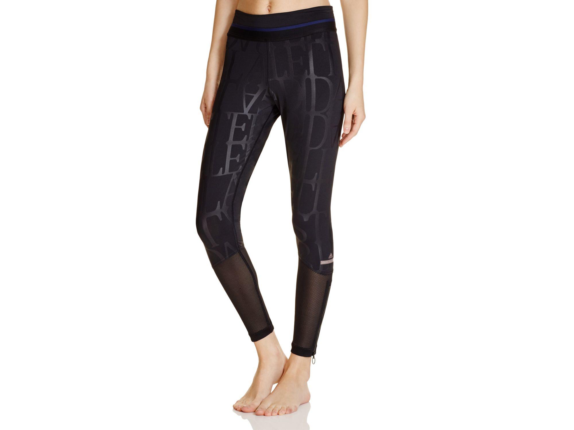 lyst adidas by stella mccartney run long tight leggings. Black Bedroom Furniture Sets. Home Design Ideas