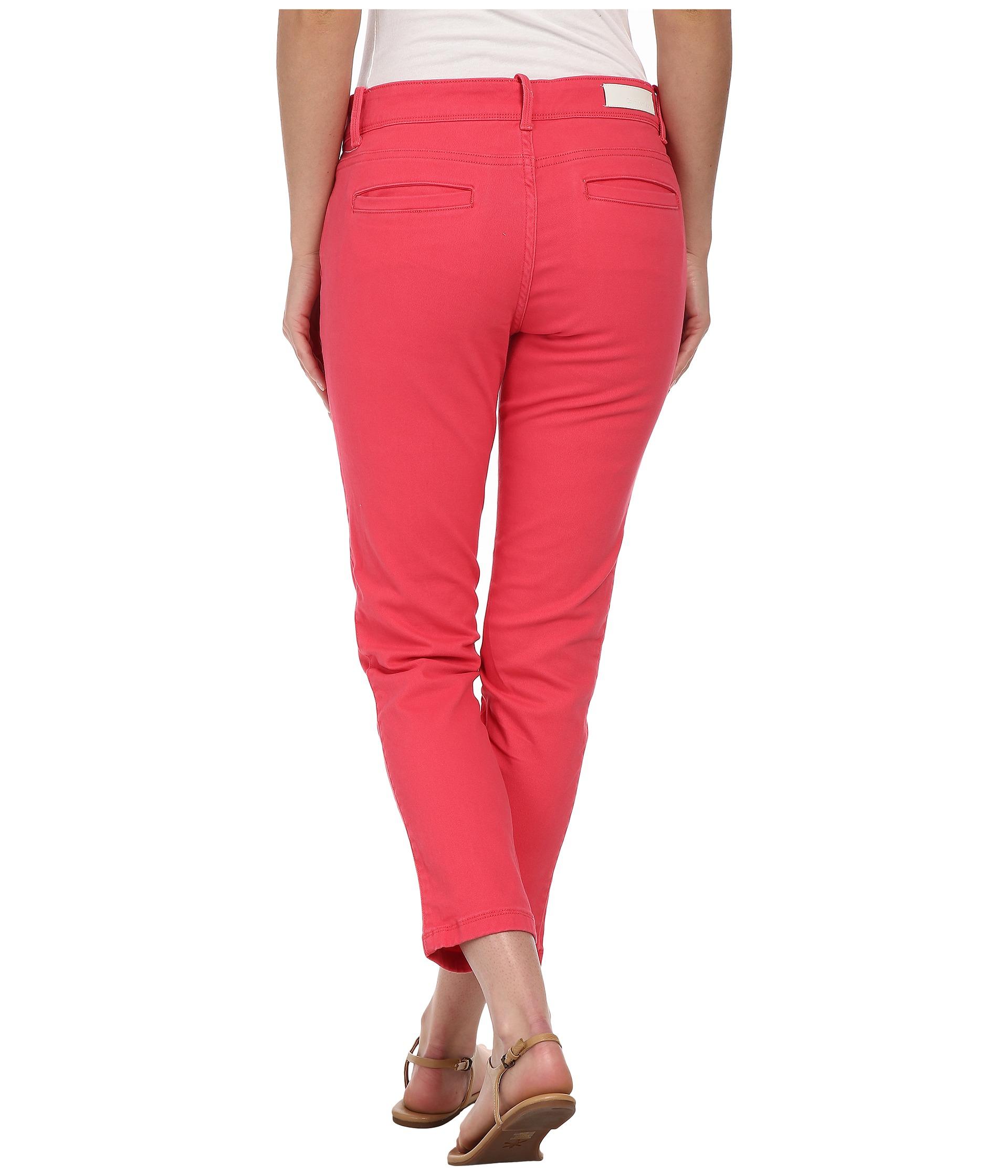 Cropped Chino Trousers Calvin Klein avXX2tMkF1