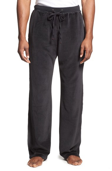 Lyst Daniel Buchler Velour Lounge Pants In Black For Men
