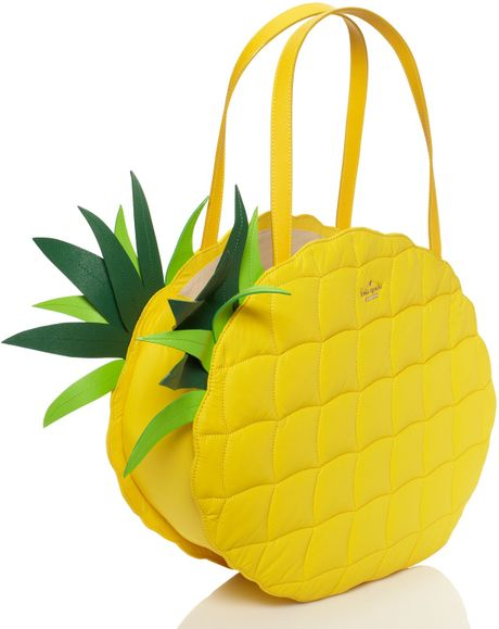 Kate Spade Wing It Pineapple Tote In Yellow Goldenrod Lyst