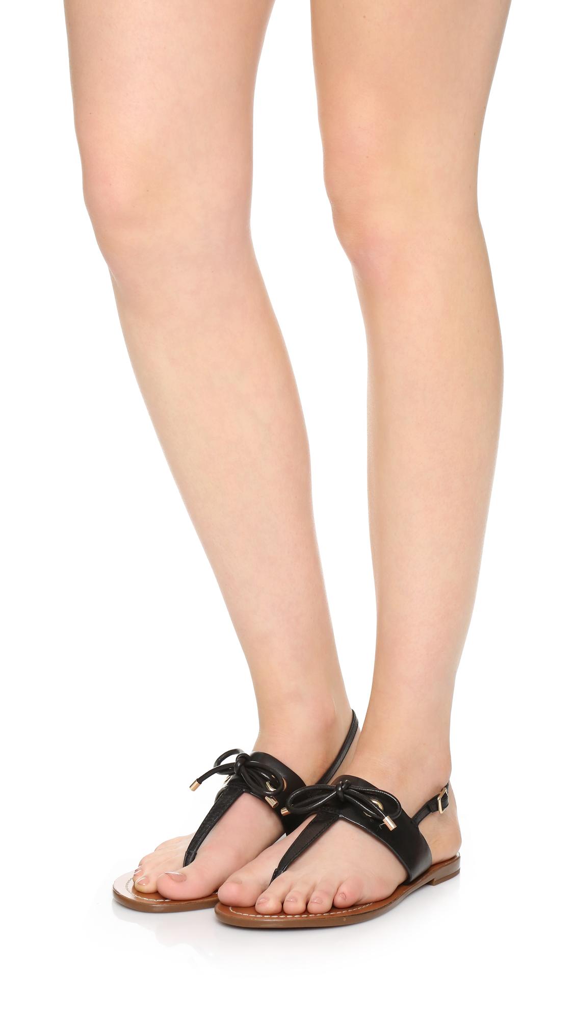Kate spade new york Carolina Thong Sandals in Black