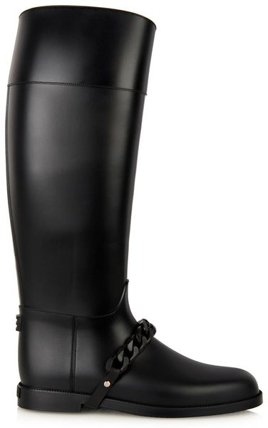Givenchy Eva Chain Rubber Rain Boots In Black Lyst
