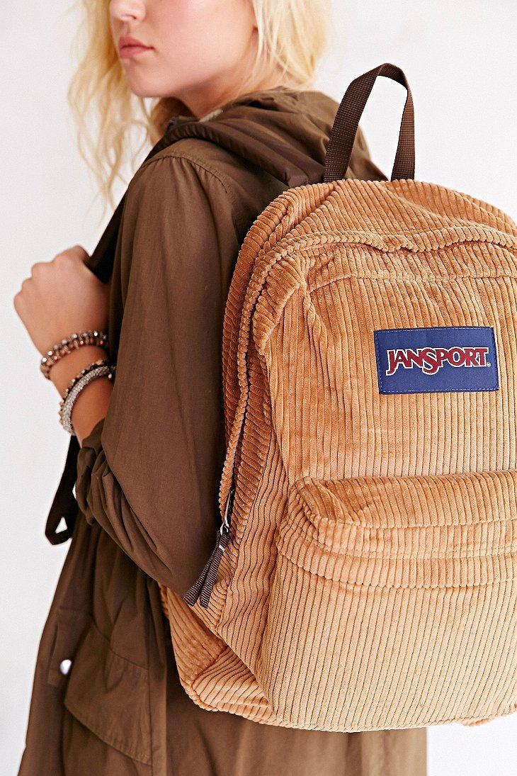 Jansport High Steaks Corduroy Backpack in Brown | Lyst