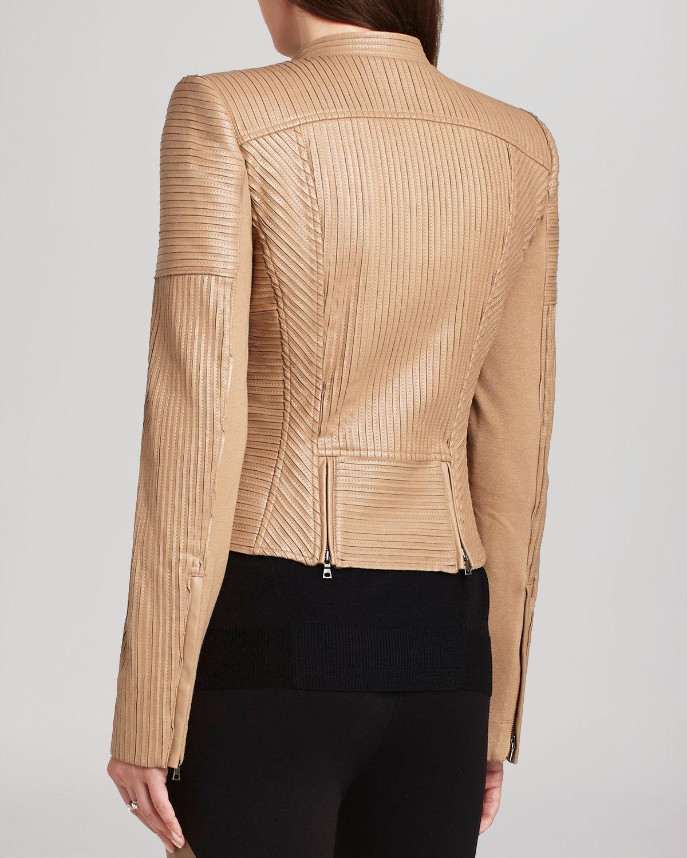Lyst Bcbgmaxazria Jacket Conrad Faux Leather Striping