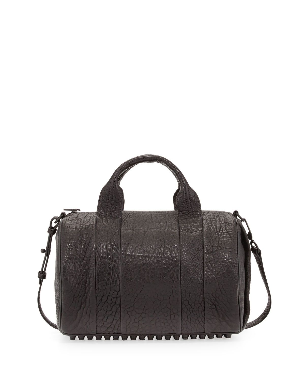 alexander wang rocco dumbo stud bottom satchel bag in. Black Bedroom Furniture Sets. Home Design Ideas