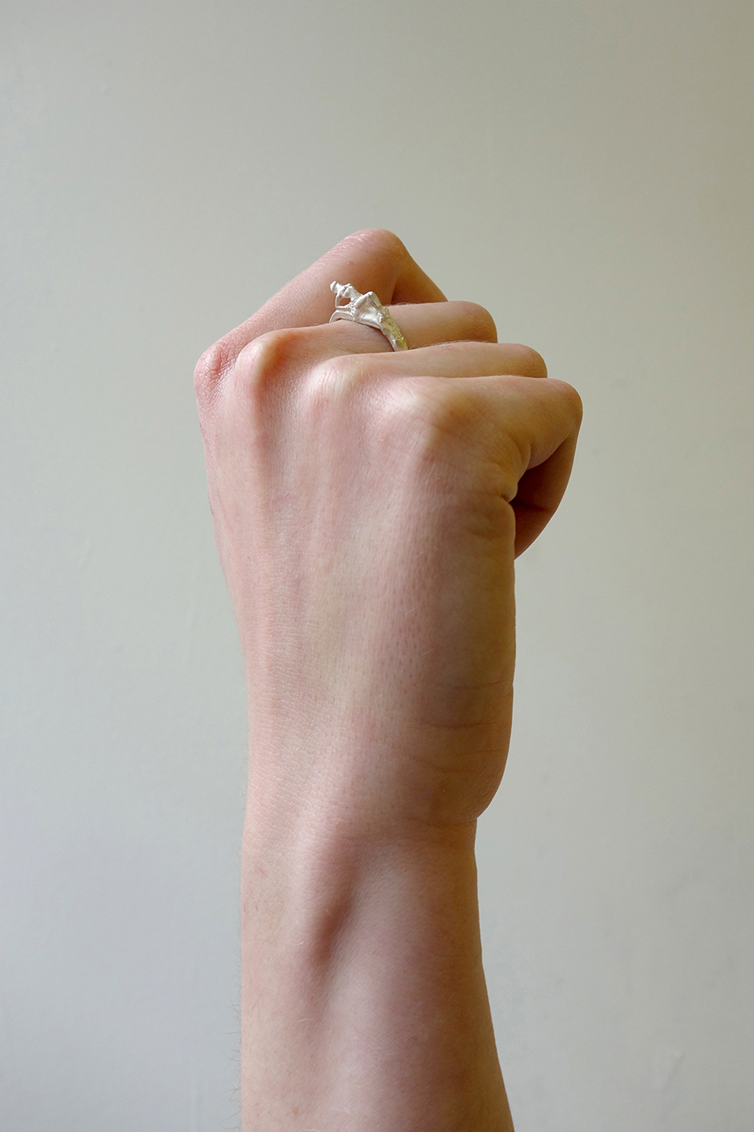 Fraser Hamilton Lady Ring Silver in Metallic